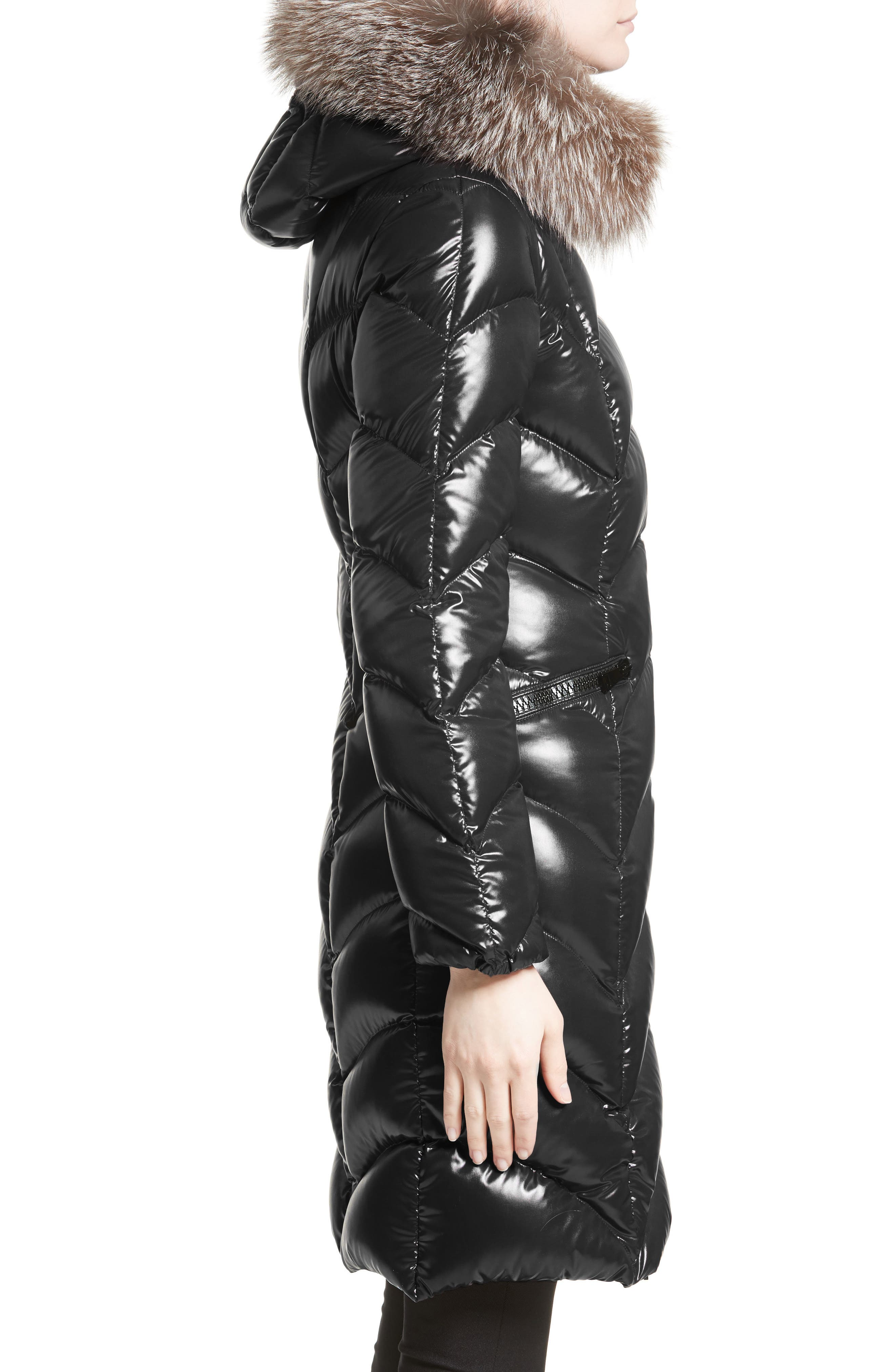 Alternate Image 3  - Moncler Albizia Down Puffer Coat with Genuine Fox Fur Trim