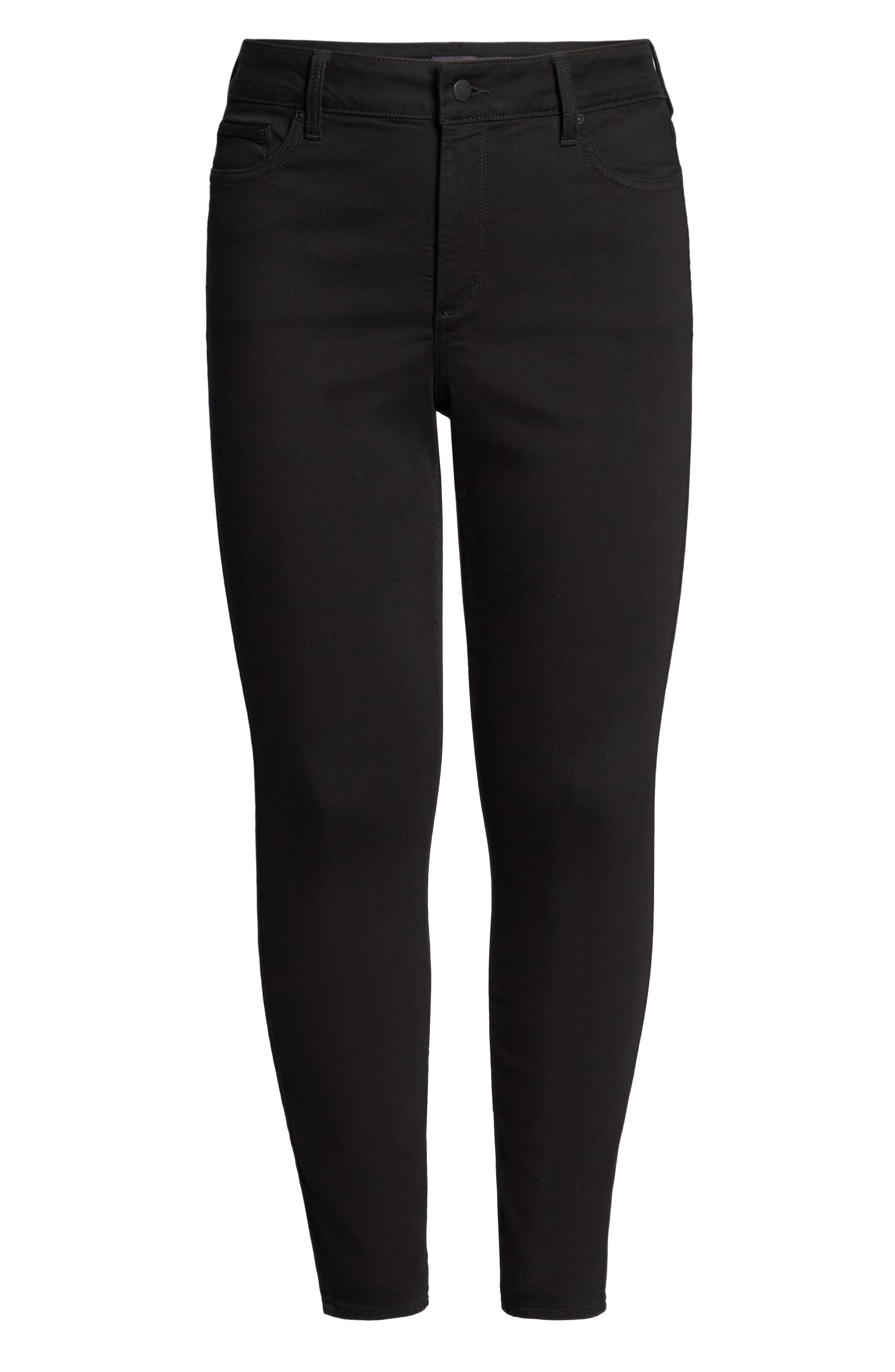 Ami Stretch Skinny Jeans,                             Alternate thumbnail 6, color,                             Black