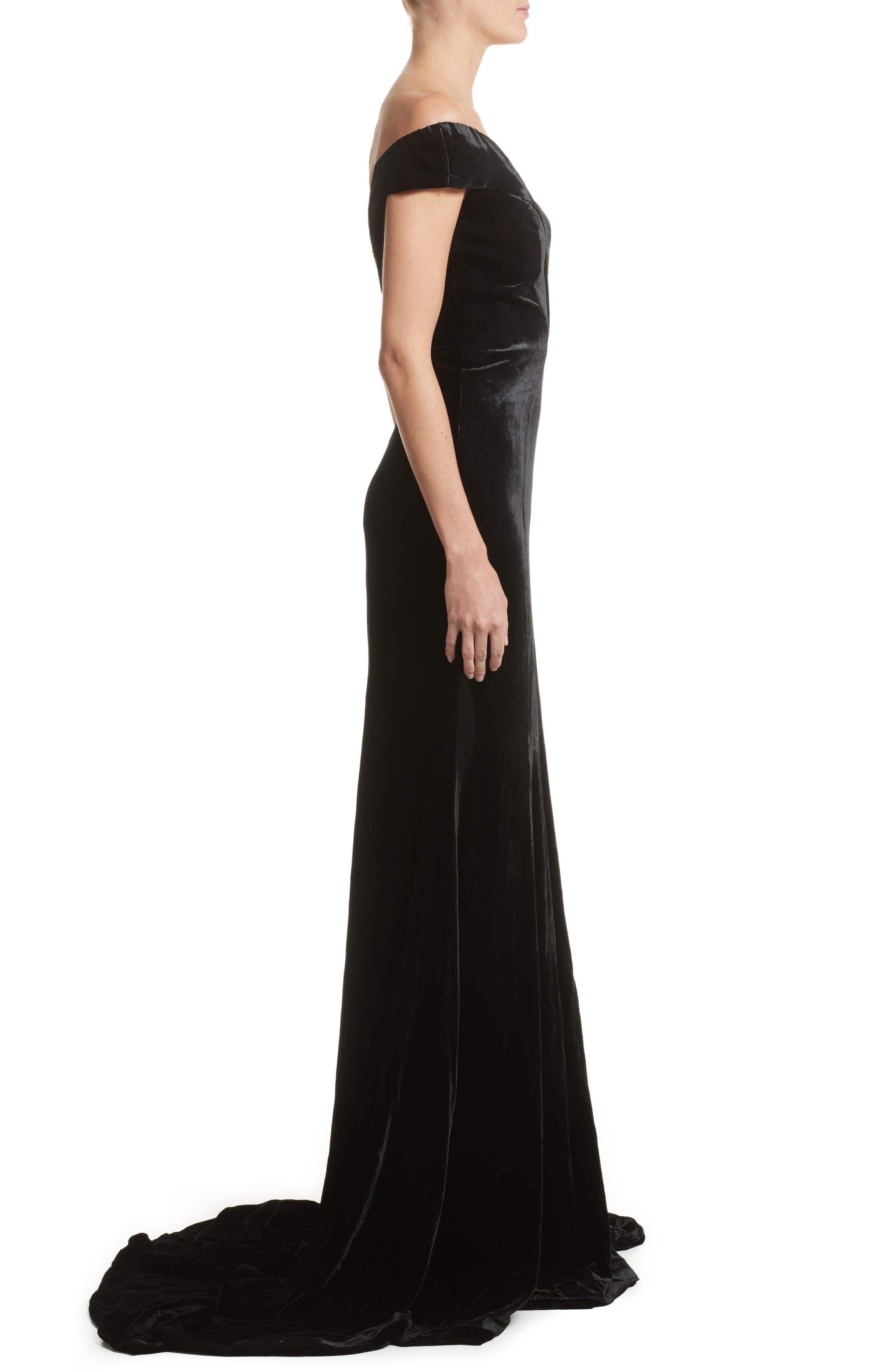 Alternate Image 3  - Rachel Gilbert Violetta Velvet Off the Shoulder Gown
