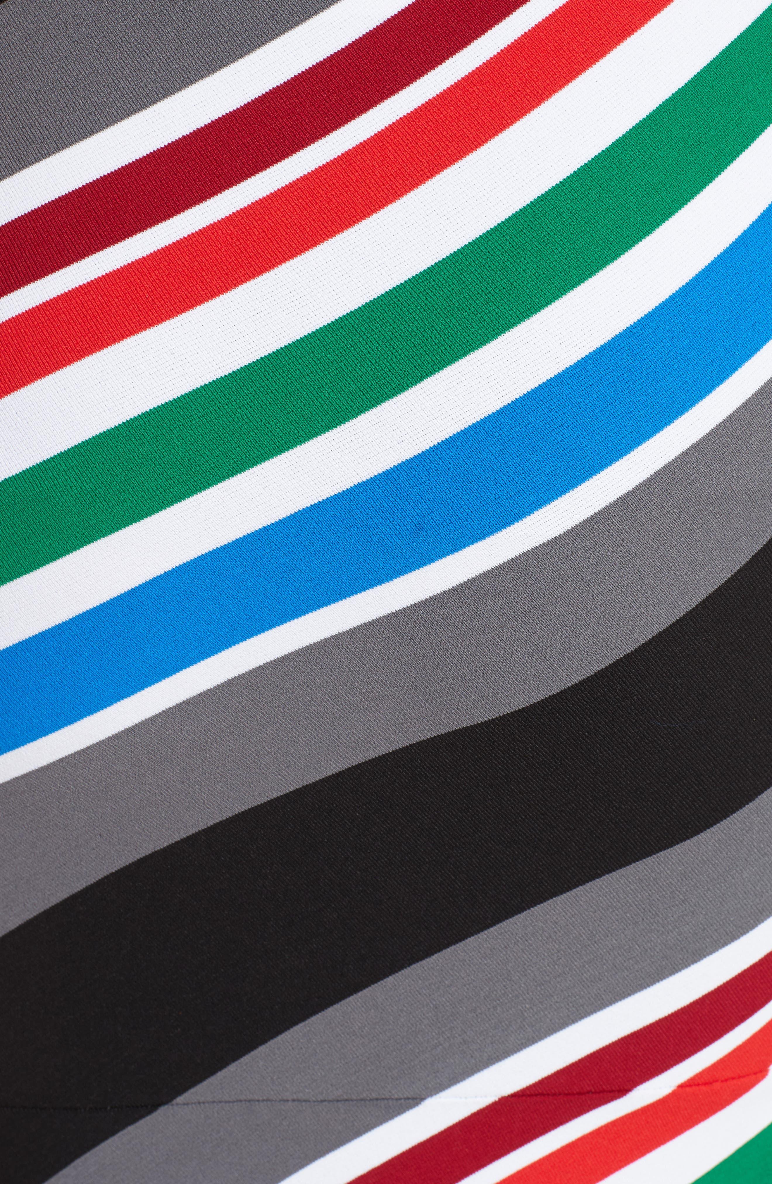 Alternate Image 5  - Oscar de la Renta Compact Knit Stripe Skirt