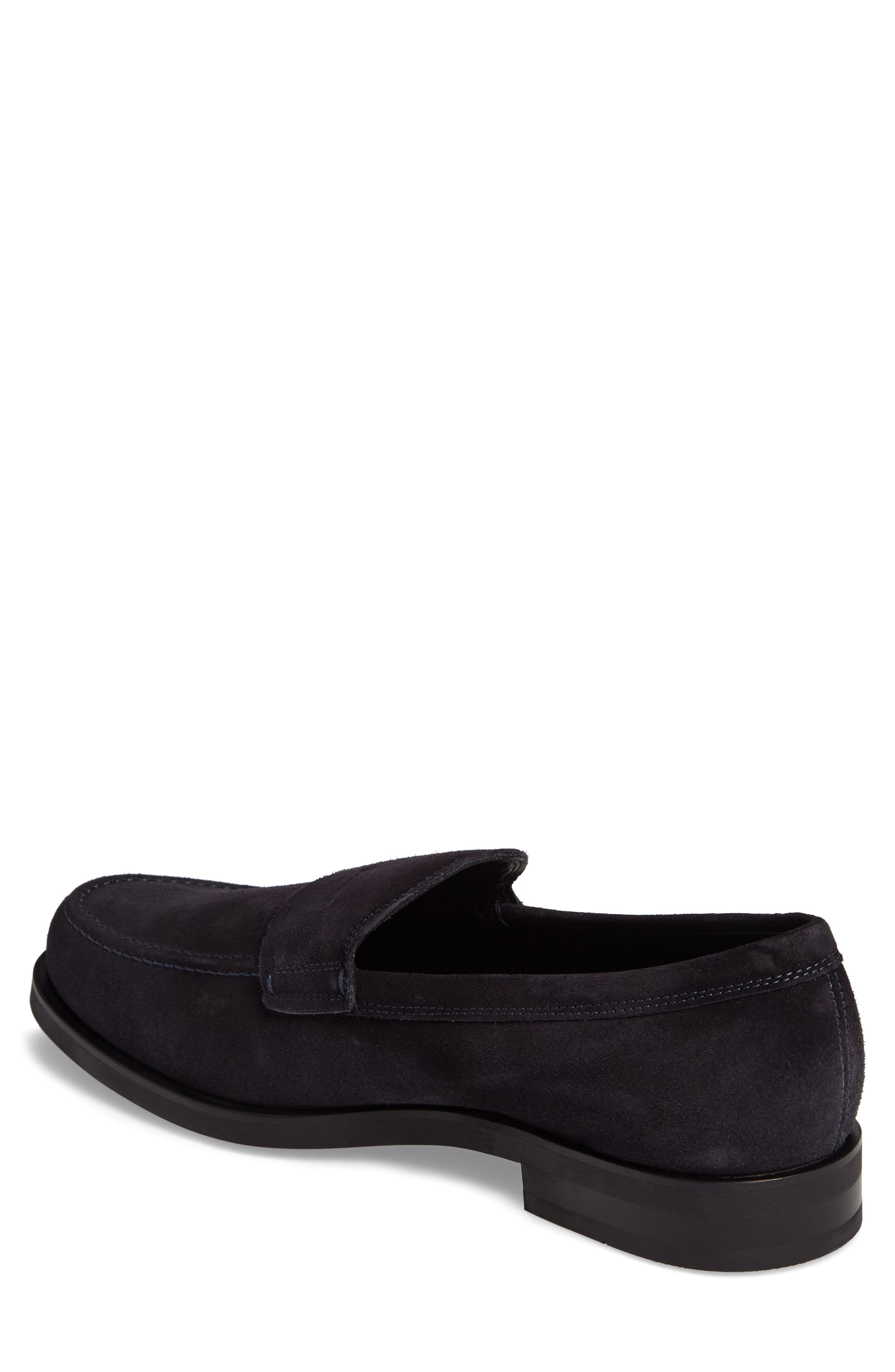 Penny Loafer,                             Alternate thumbnail 2, color,                             Navy Suede