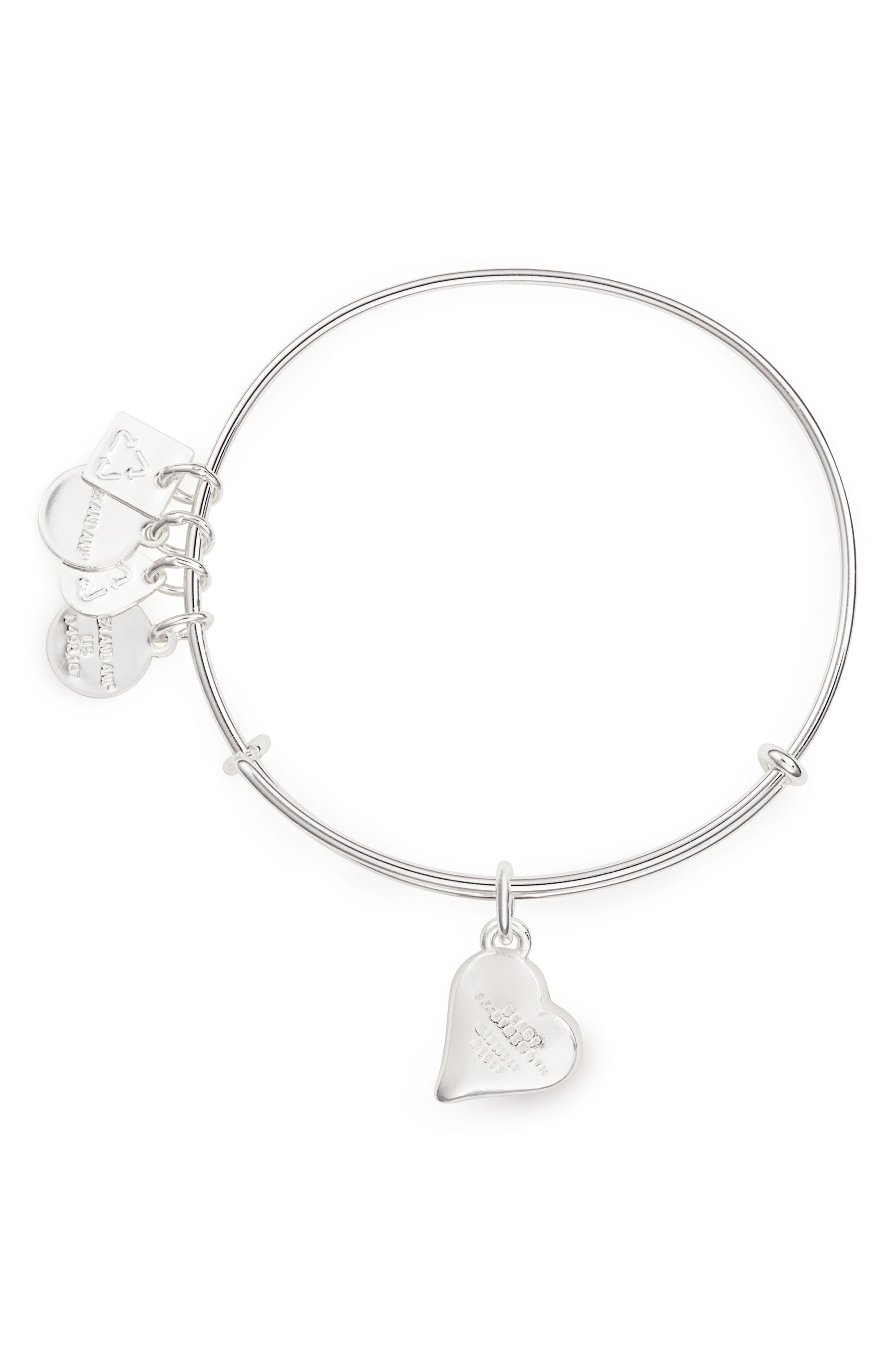 Alternate Image 2  - Alex and Ani (PRODUCT) RED Heart of Strength Expandable Charm Bracelet