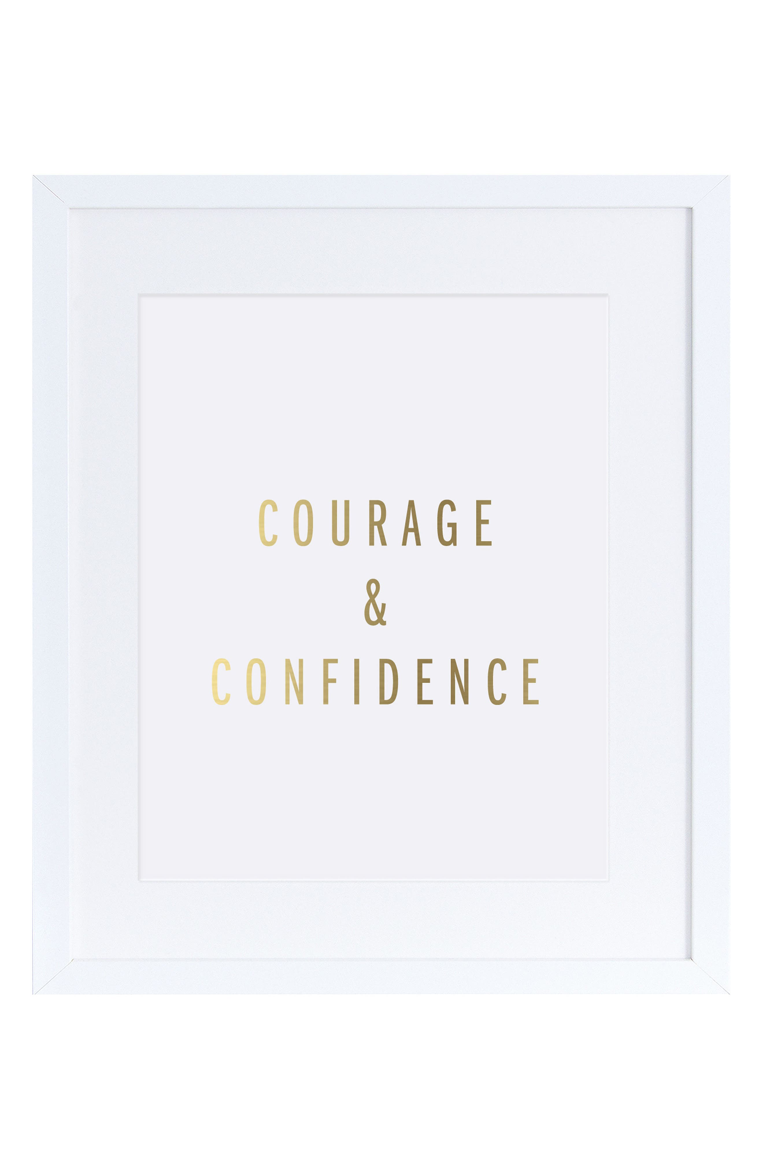 The Pink Orange Courage & Confidence Wall Art