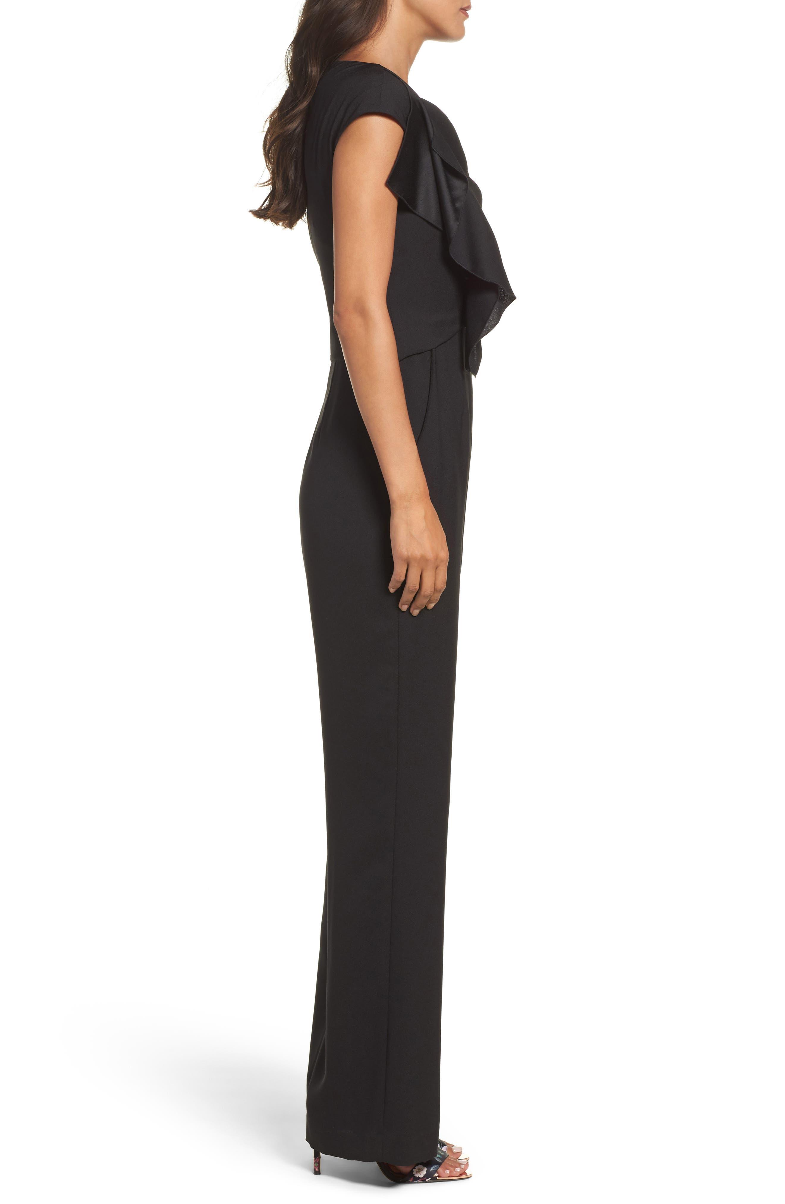 Alternate Image 3  - Eliza J Ruffle Sleeve Crepe Jumpsuit