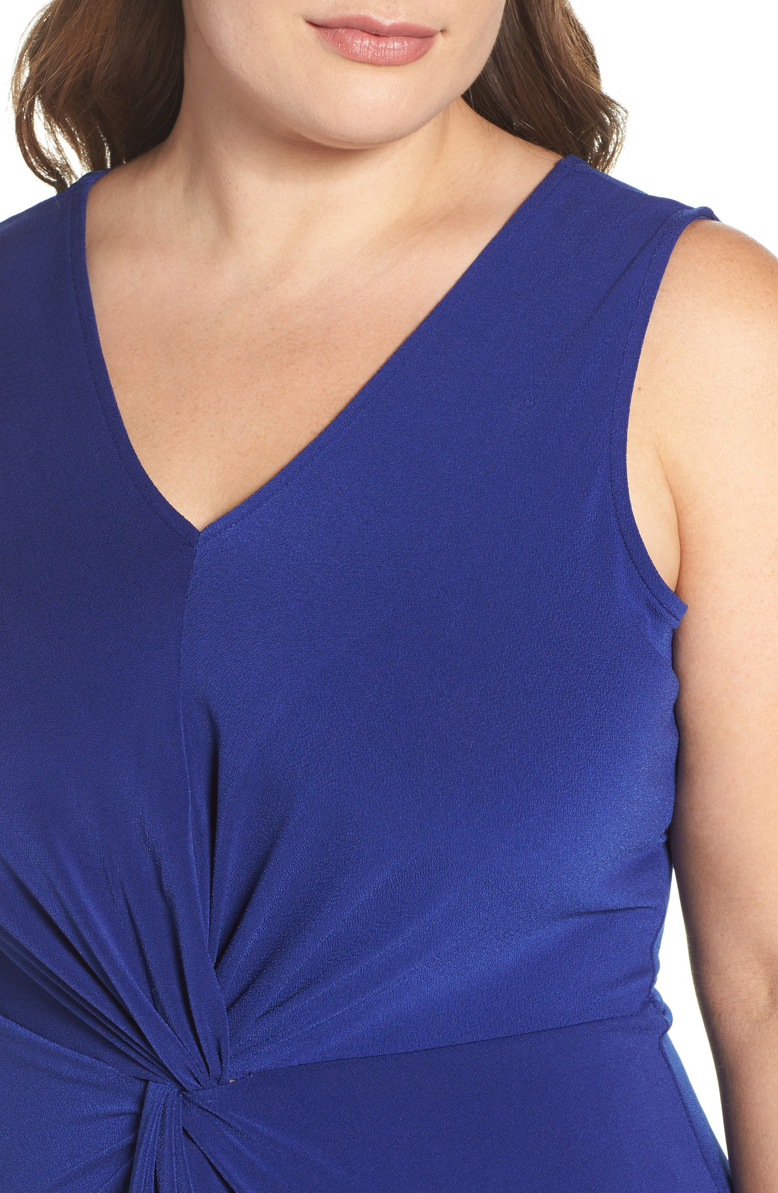 Twist Front Jersey Dress,                             Alternate thumbnail 4, color,                             Navy Crepe