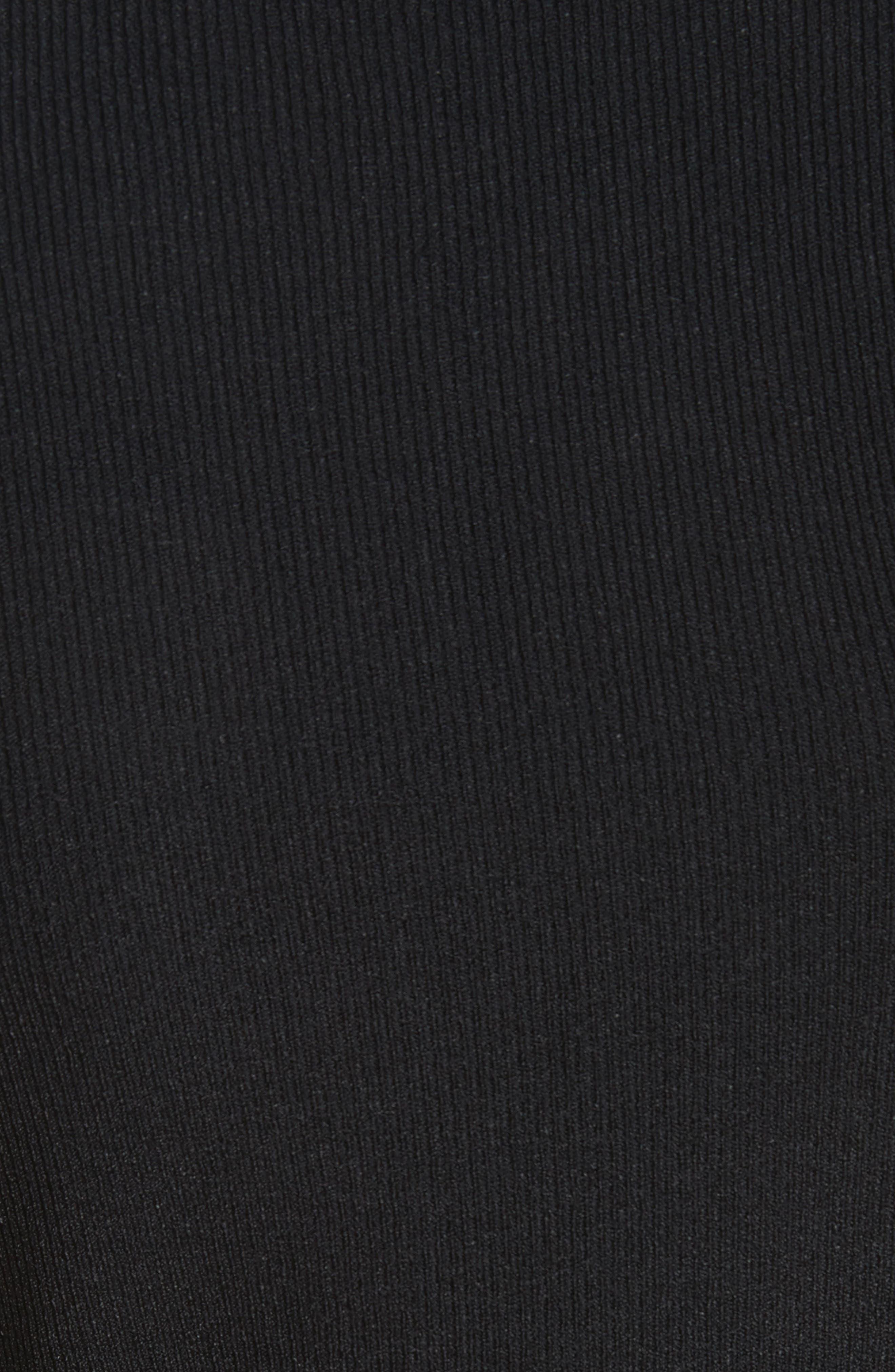 Slash Rib Knit Dress,                             Alternate thumbnail 5, color,                             Black