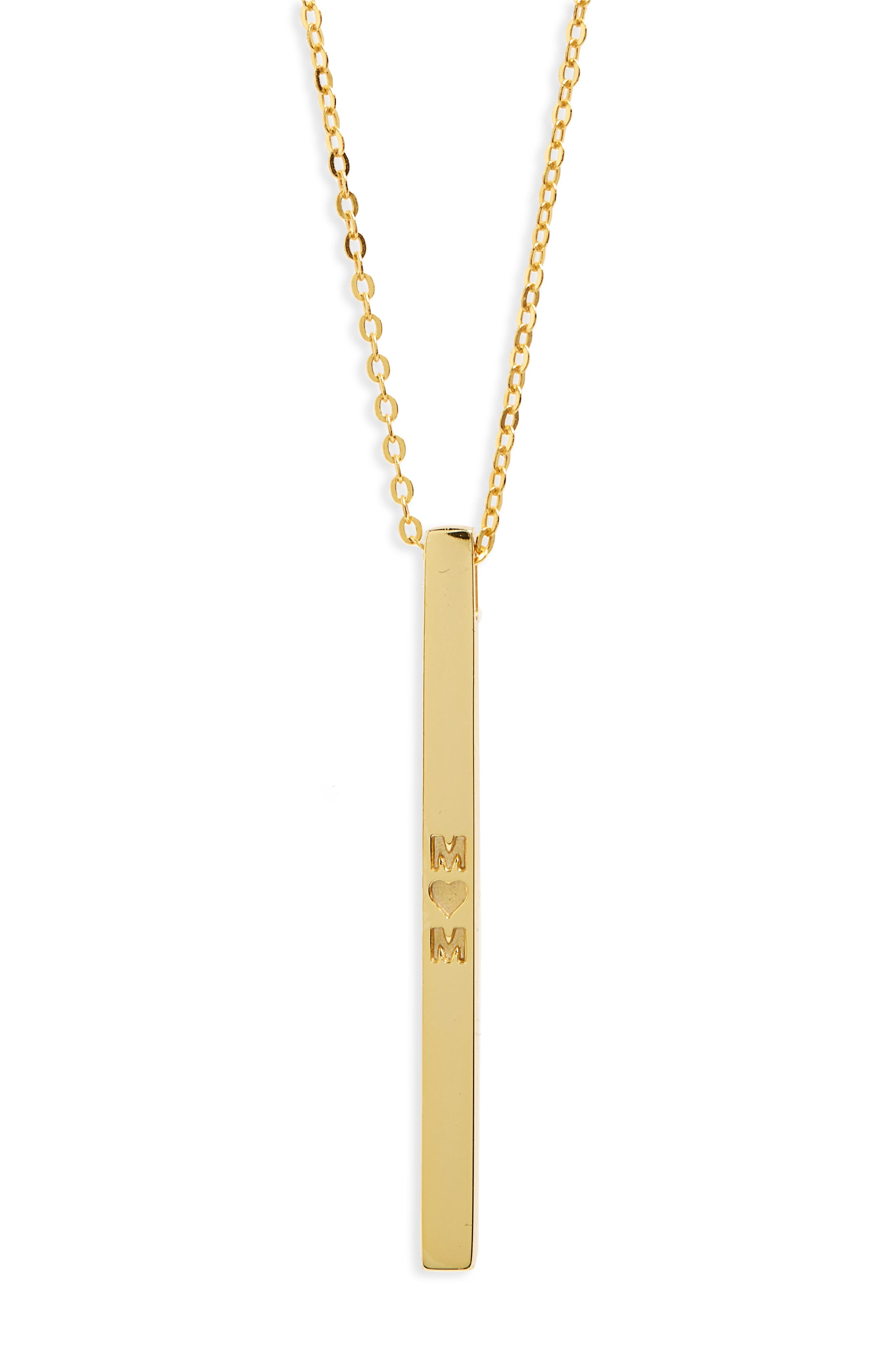 Mom Necklace,                         Main,                         color, Gold
