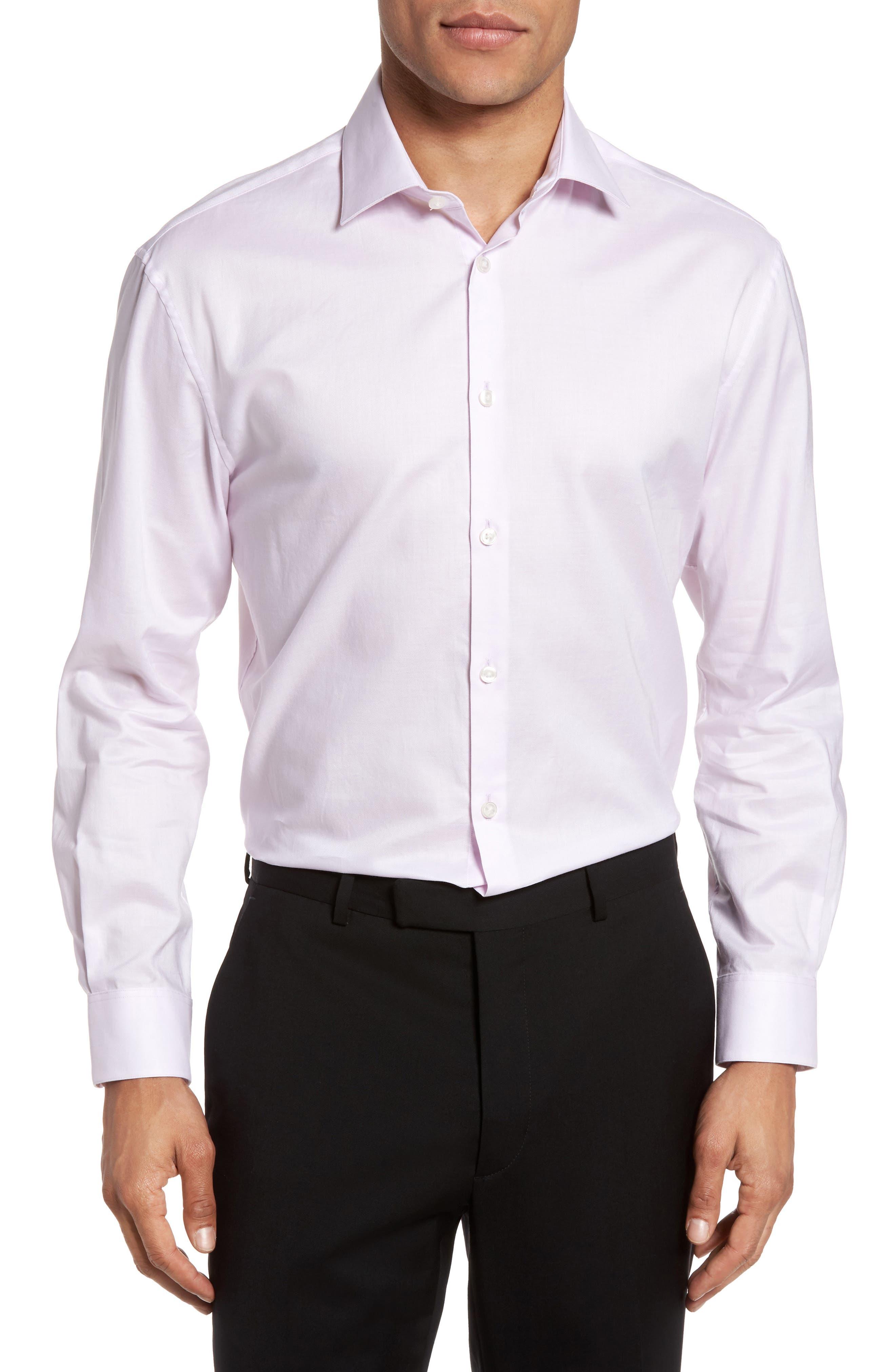 Alternate Image 2  - John Varvatos Star USA Slim Fit Solid Stretch Dress Shirt