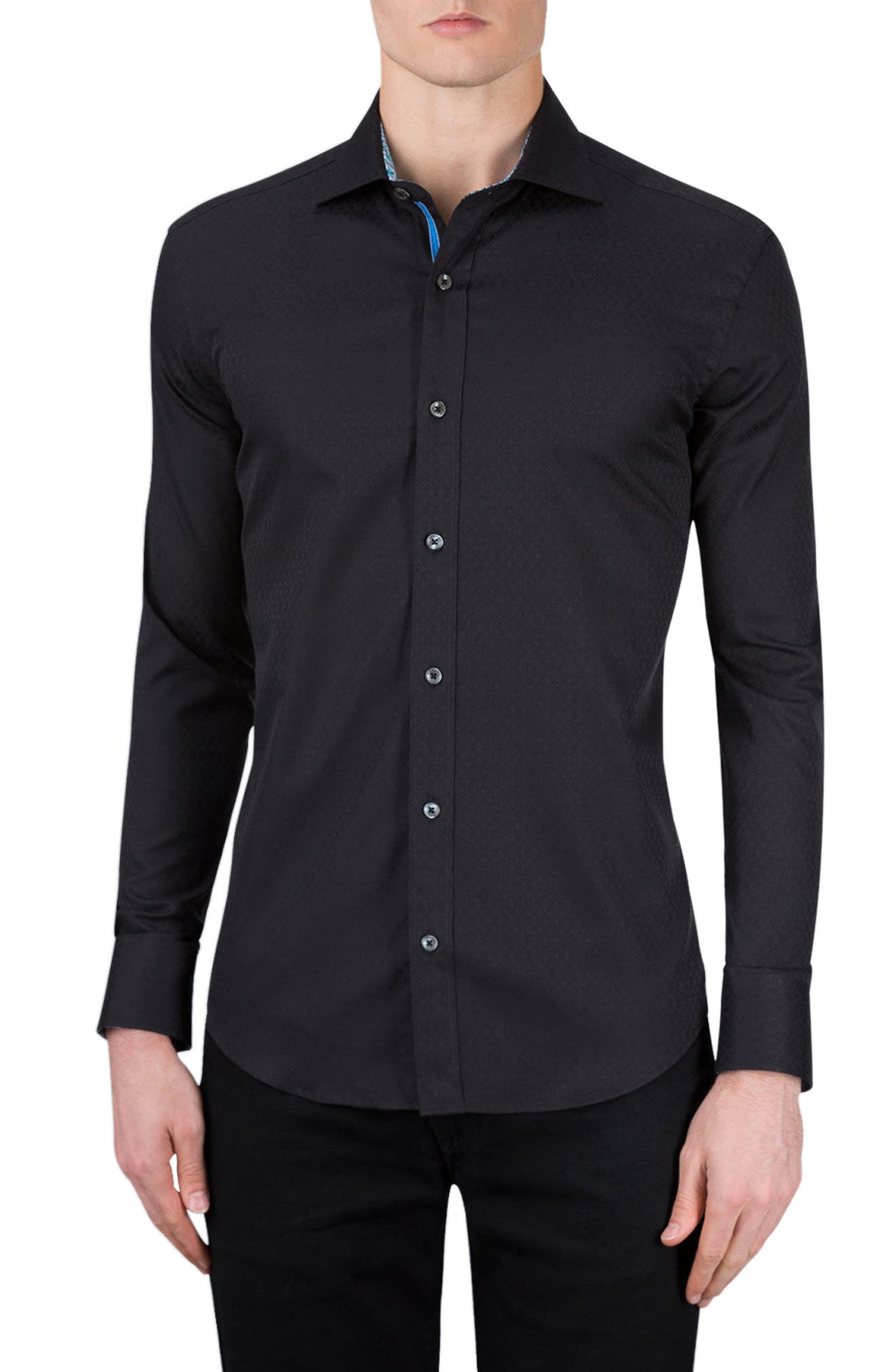 Classic Fit Sport Shirt,                         Main,                         color, Black