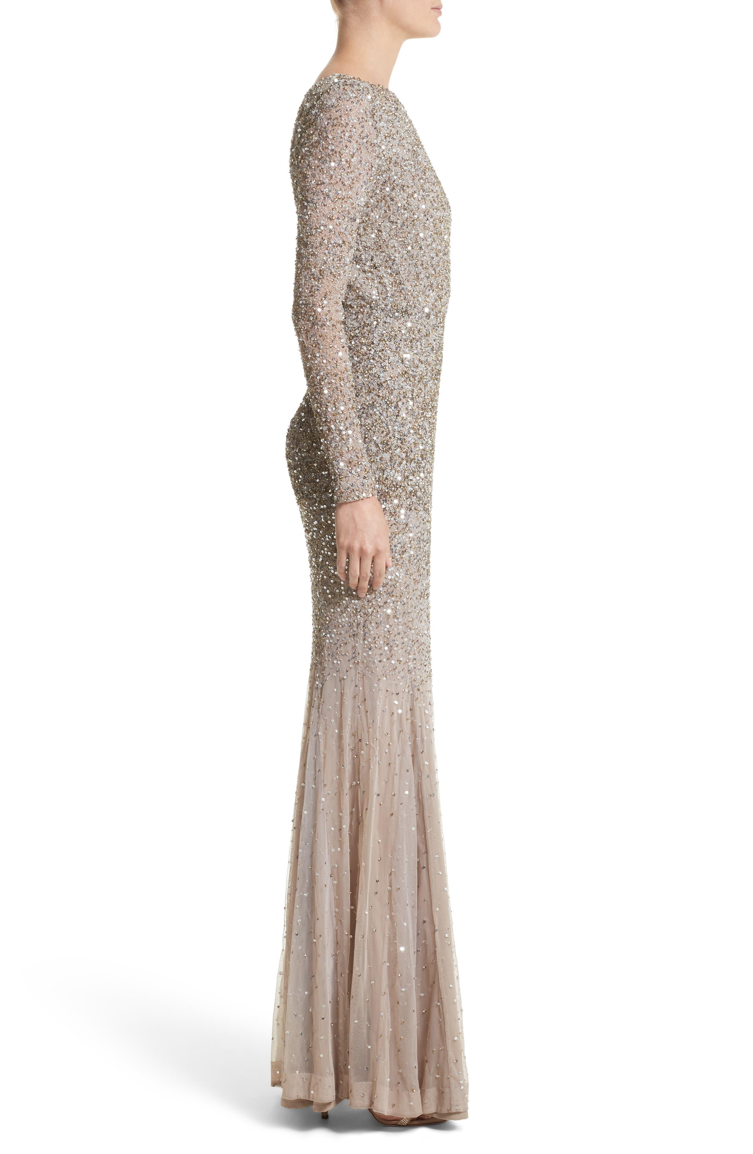Alternate Image 4  - Rachel Gilbert Viera Embellished V-Back Mermaid Gown