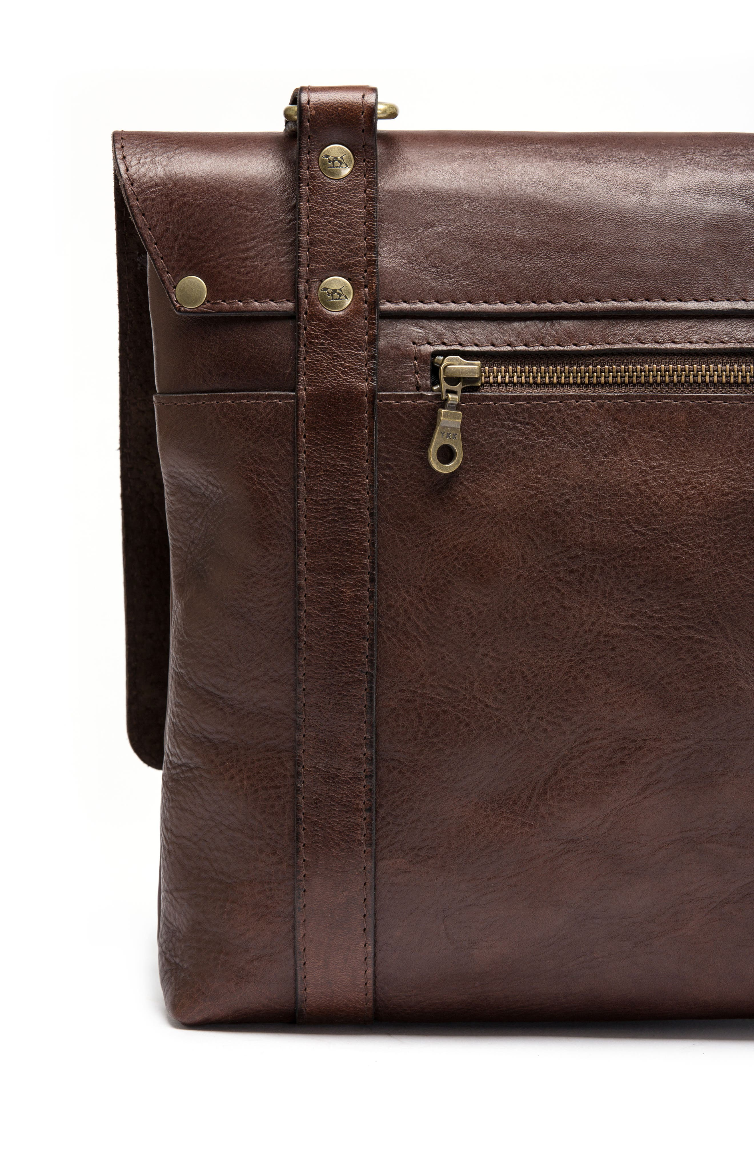 Woodstock Leather Satchel,                             Alternate thumbnail 5, color,                             Cocoa