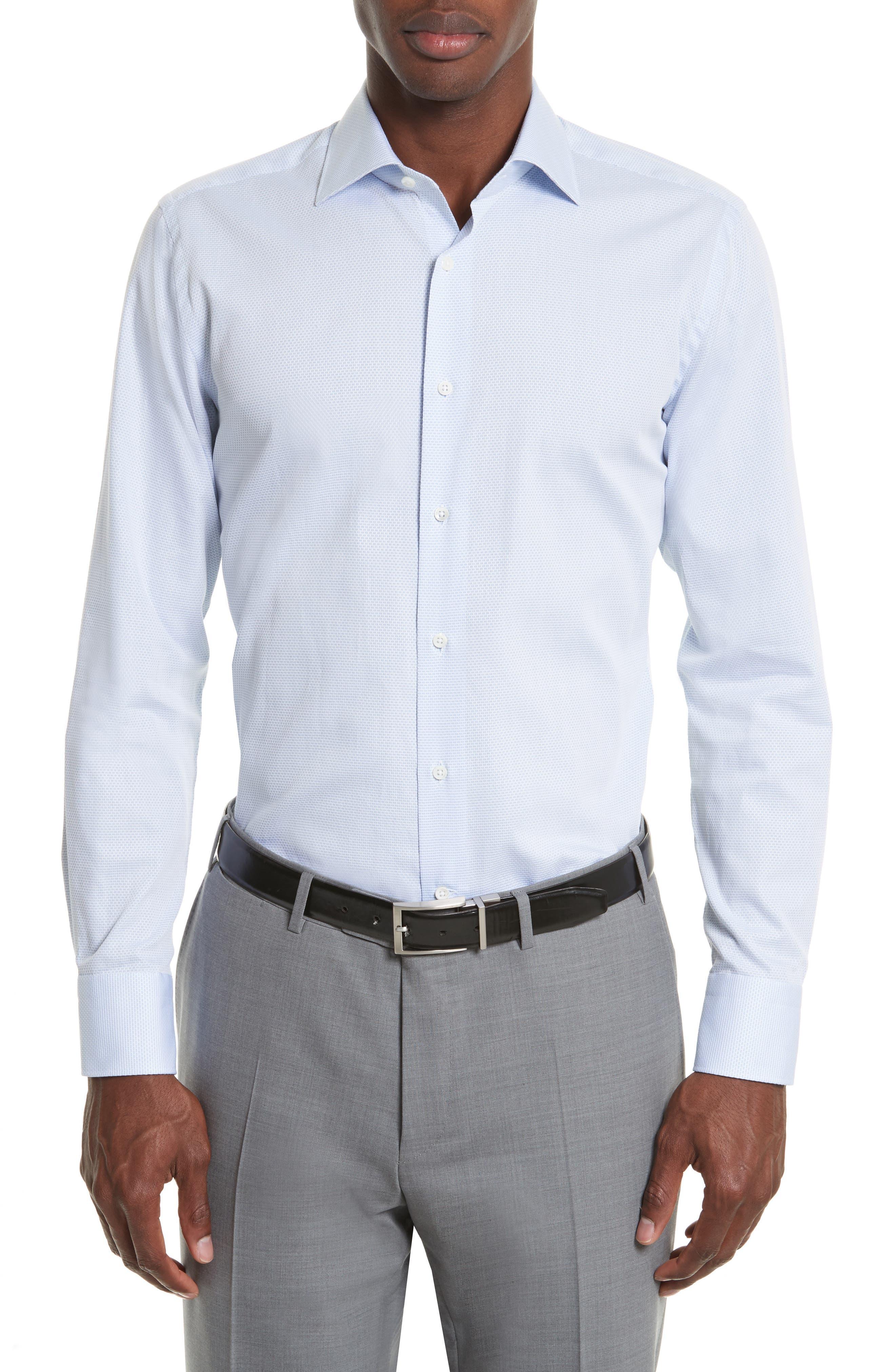 Regular Fit Solid Dress Shirt,                             Alternate thumbnail 2, color,                             Light Blue