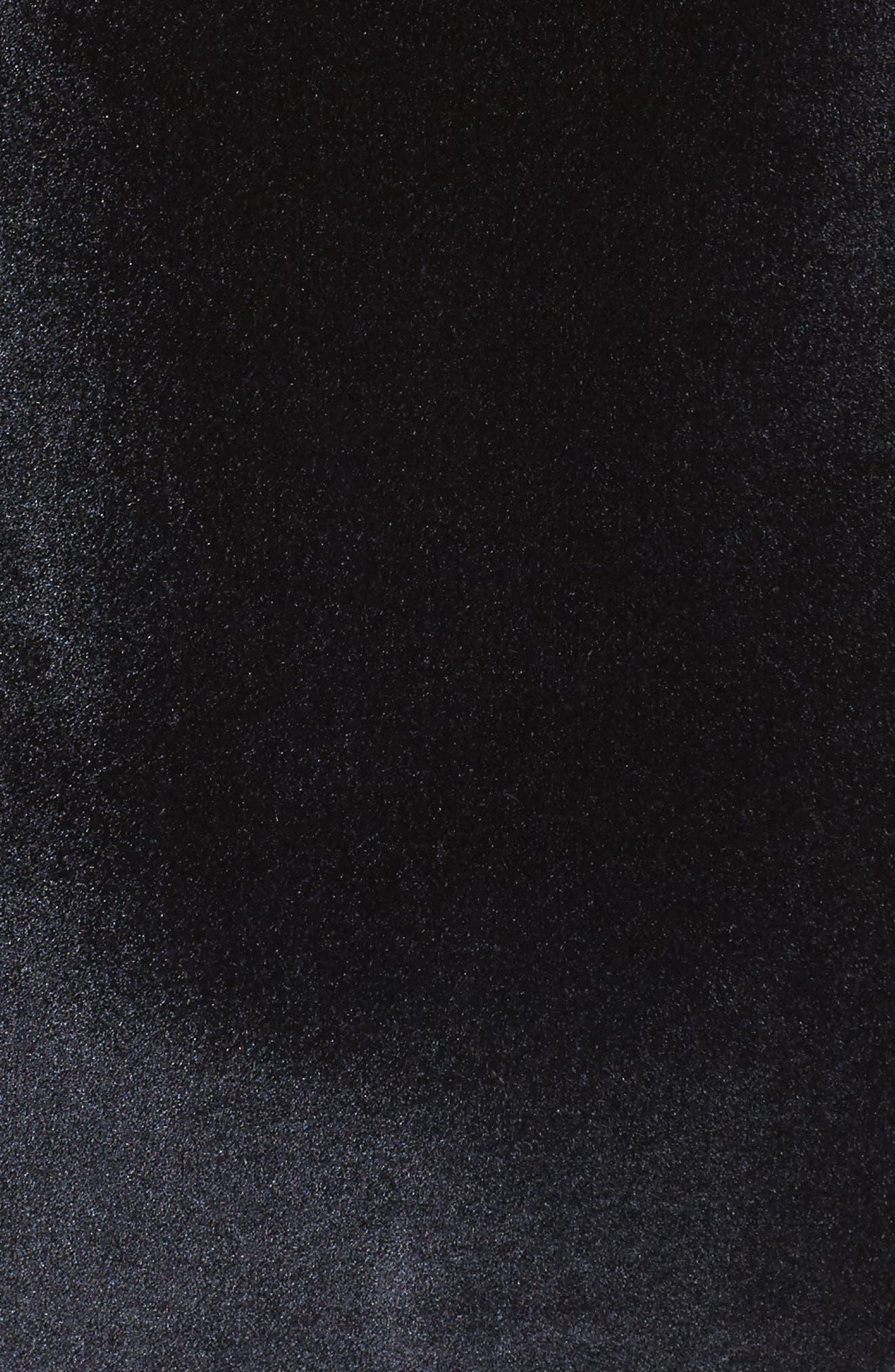 Velveteen Underground Off the Shoulder One-Piece Swimsuit,                             Alternate thumbnail 5, color,                             Black
