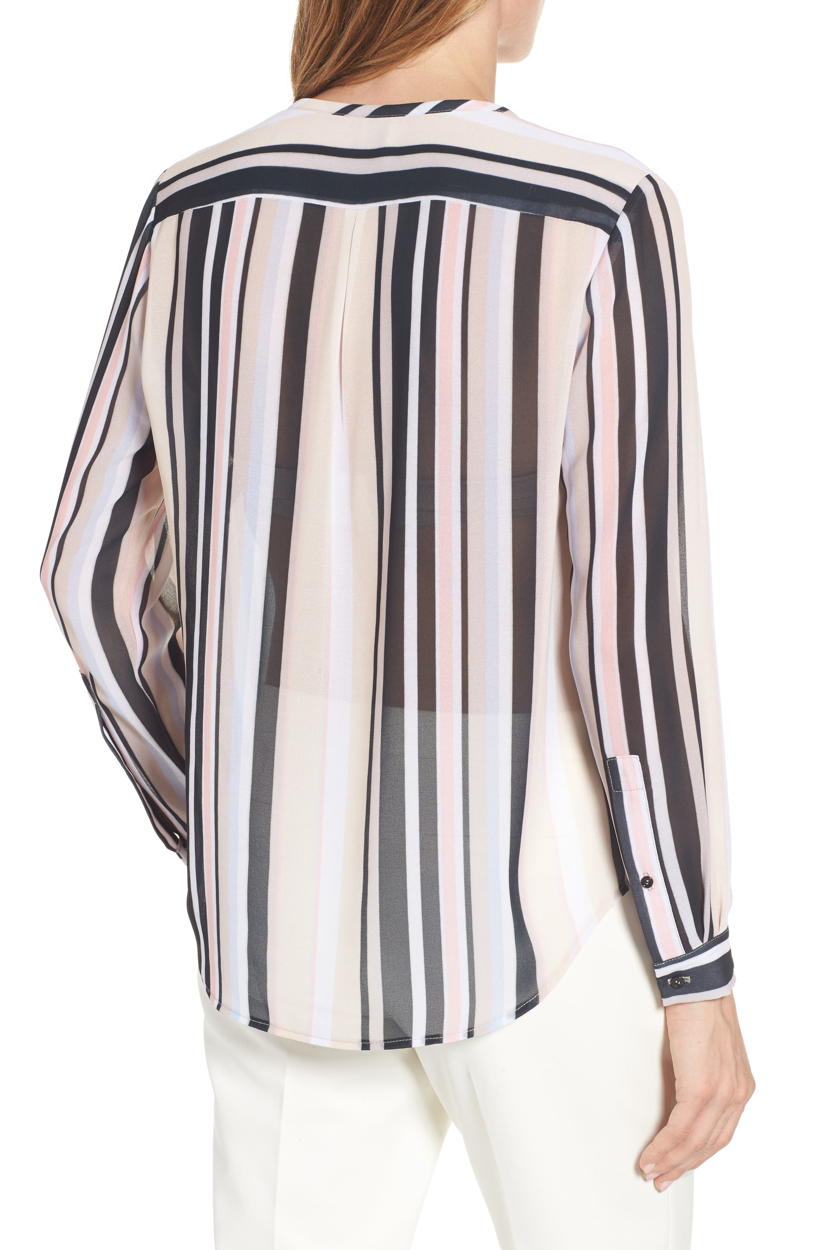 Alternate Image 2  - Anne Klein Stripe Sheer Blouse