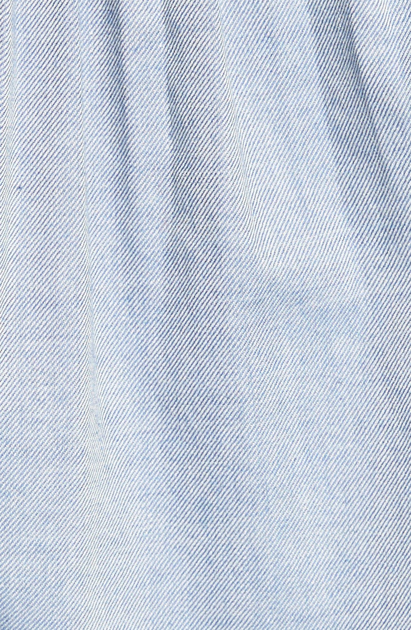 Edwardian Chambray Top,                             Alternate thumbnail 5, color,                             Blue