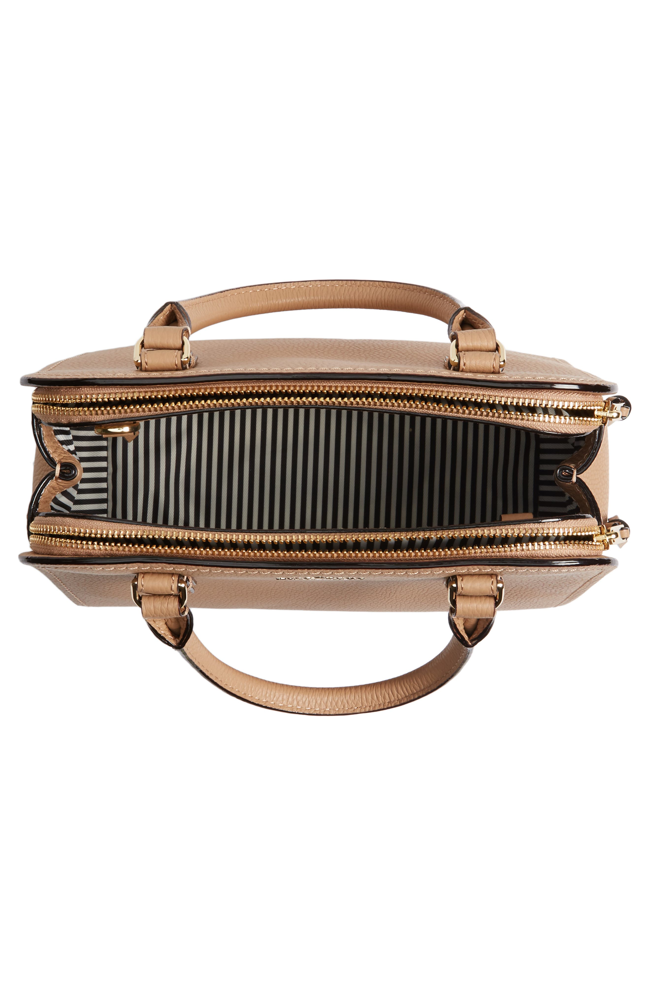 jackson street small kiernan leather top handle satchel,                             Alternate thumbnail 4, color,                             Hazel