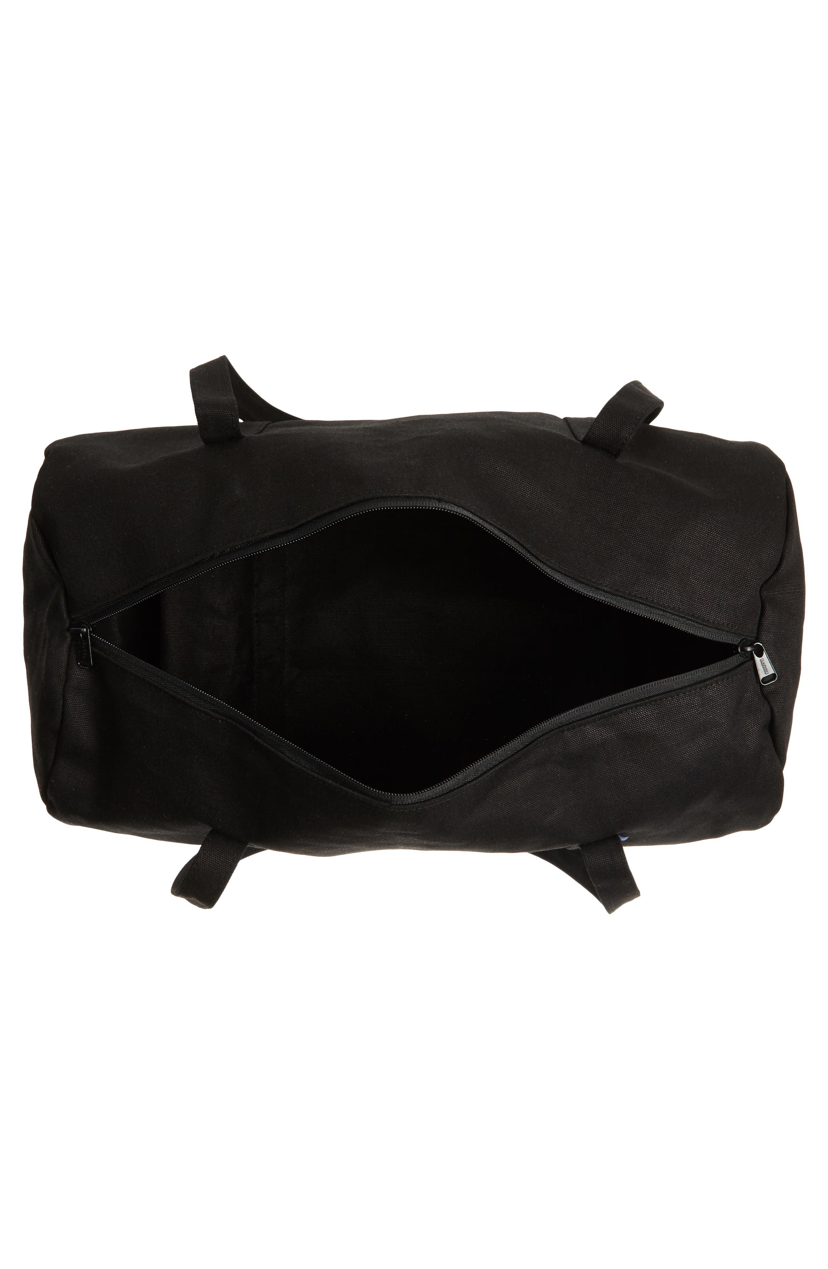 Canvas Duffel Bag,                             Alternate thumbnail 3, color,                             Black