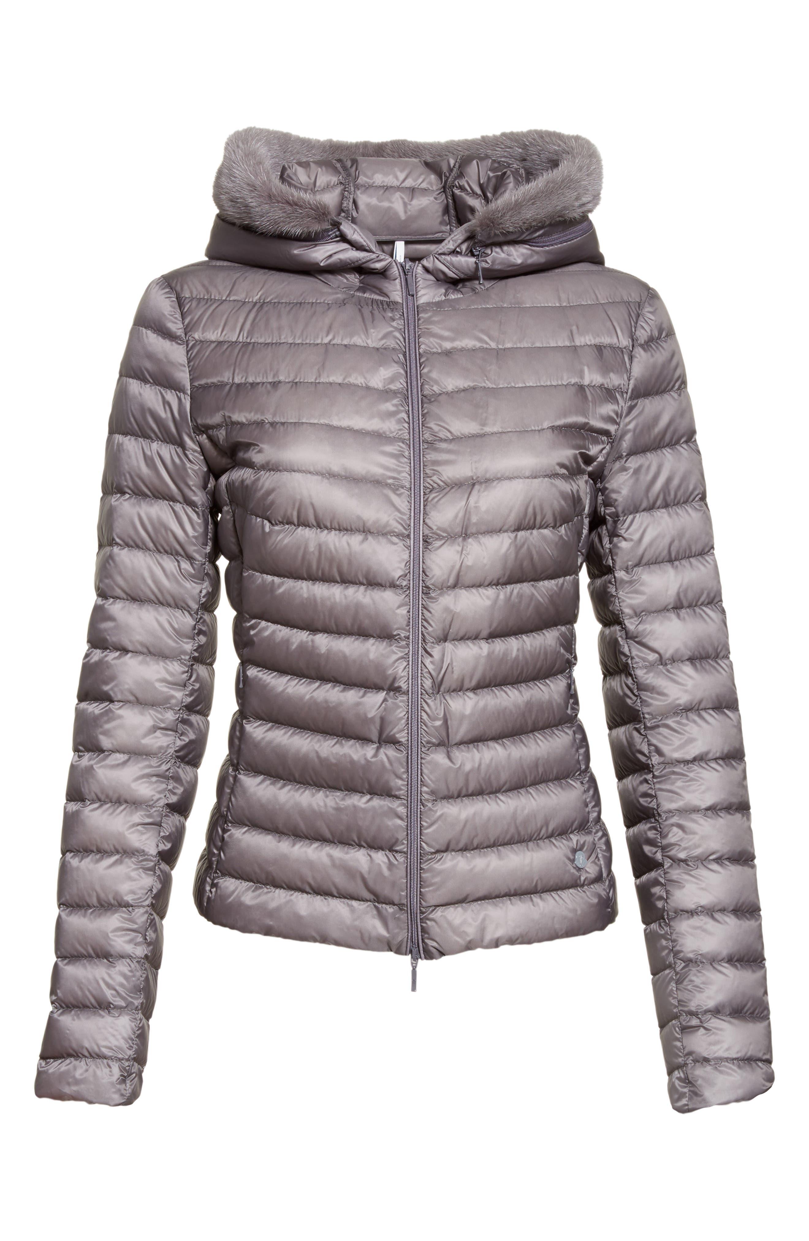 Alternate Image 6  - Moncler Sorbus Genuine Mink Fur Trim Quilted Jacket