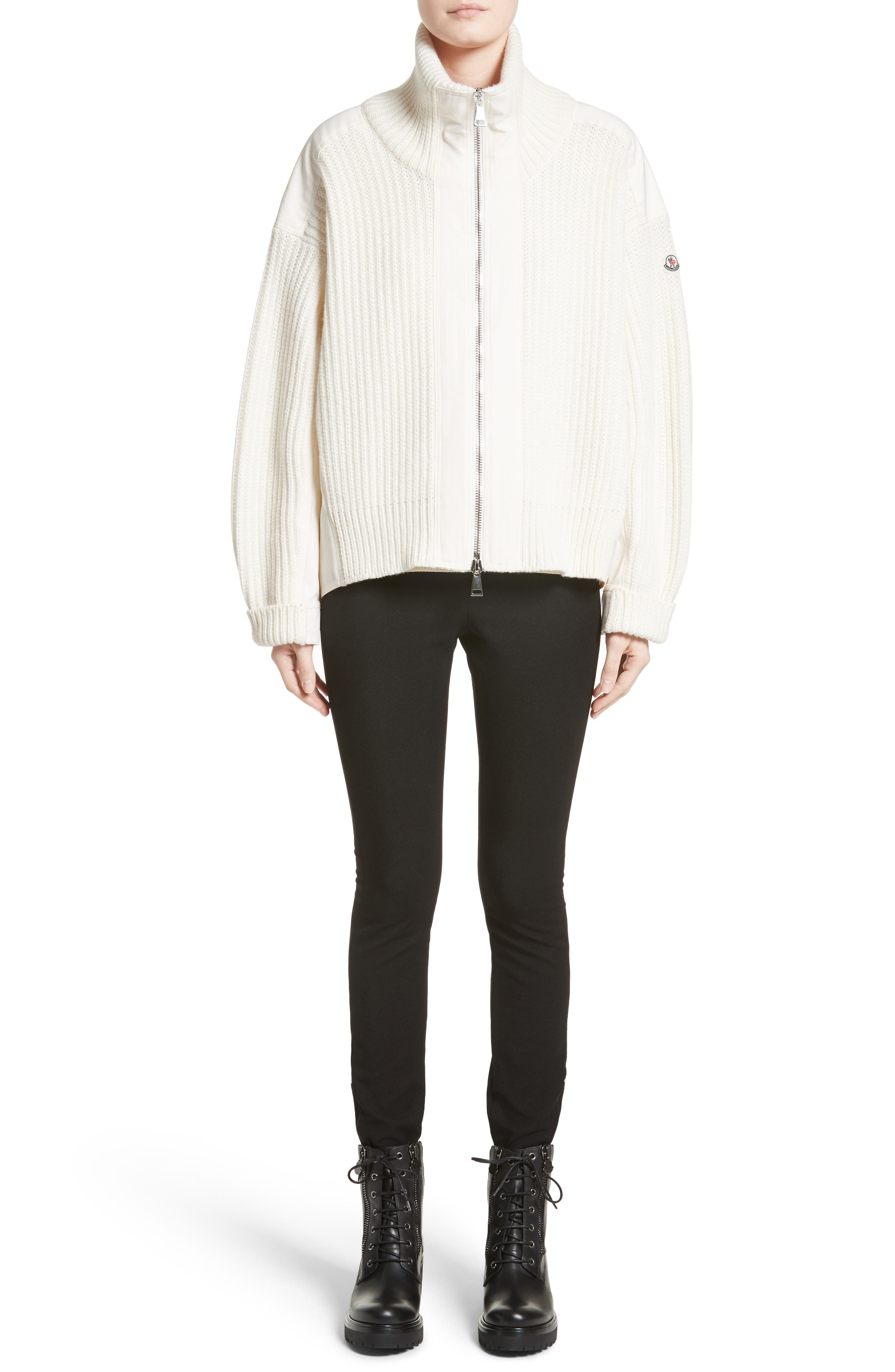 Wool & Cashmere Cardigan,                             Alternate thumbnail 7, color,                             White