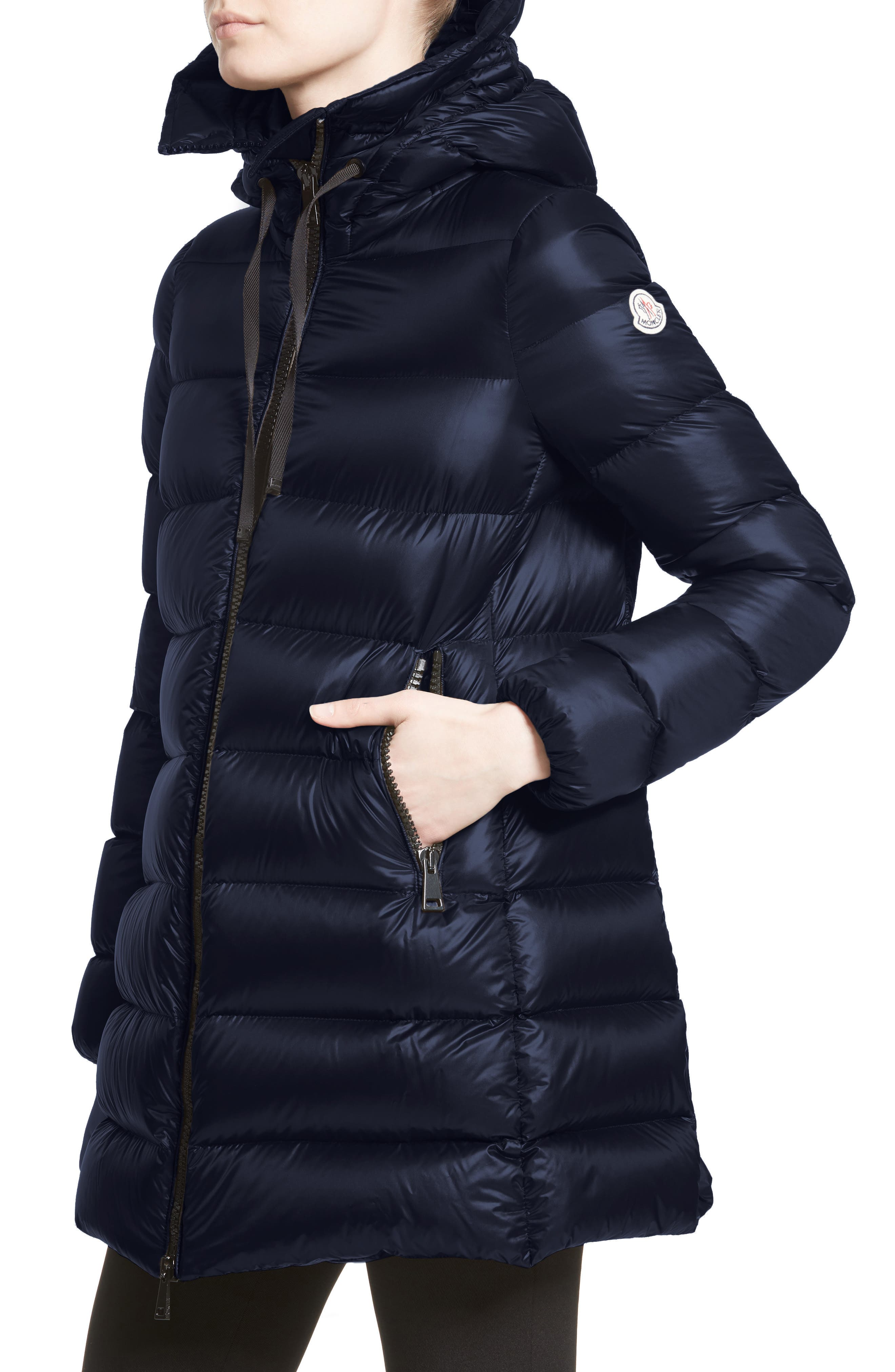 Alternate Image 6  - Moncler 'Suyen' Water Resistant Hooded Down Puffer Coat