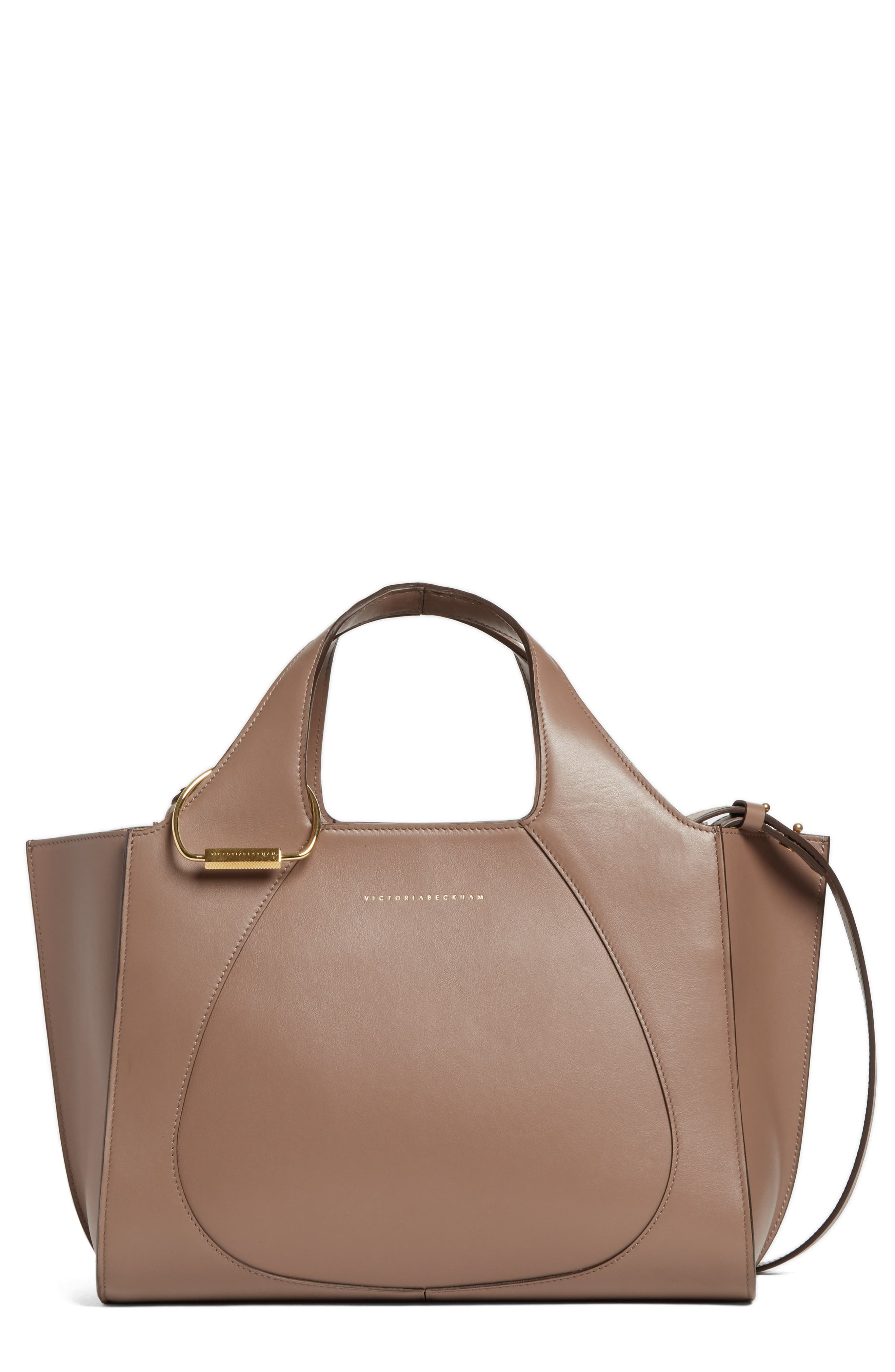 Main Image - Victoria Beckham Small Newspaper Leather Tote
