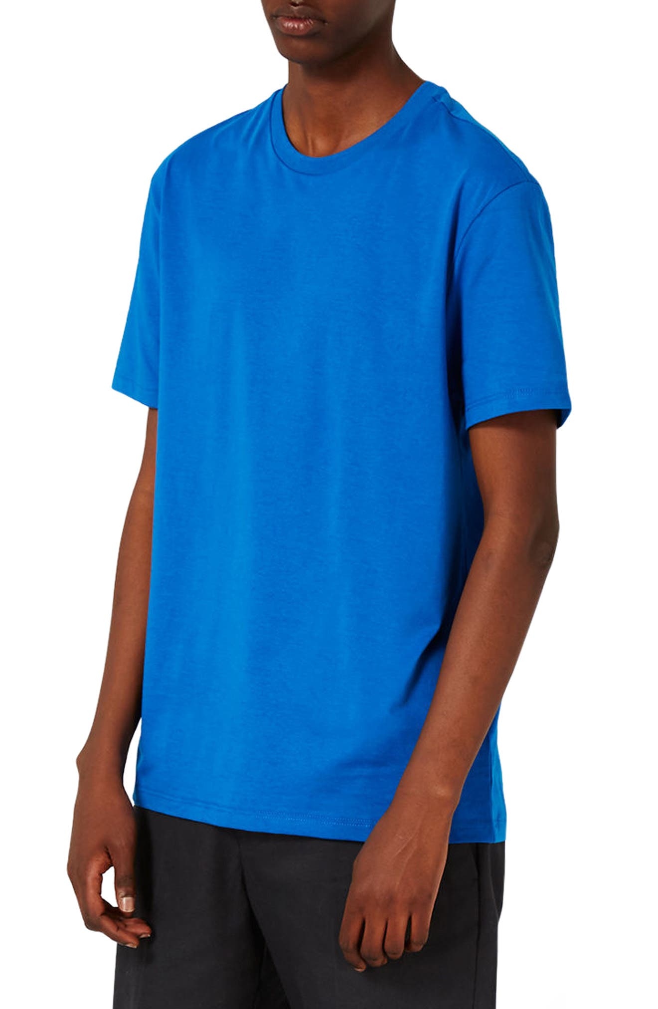 Slim Fit Crewneck T-Shirt,                         Main,                         color, Brilliant Blue