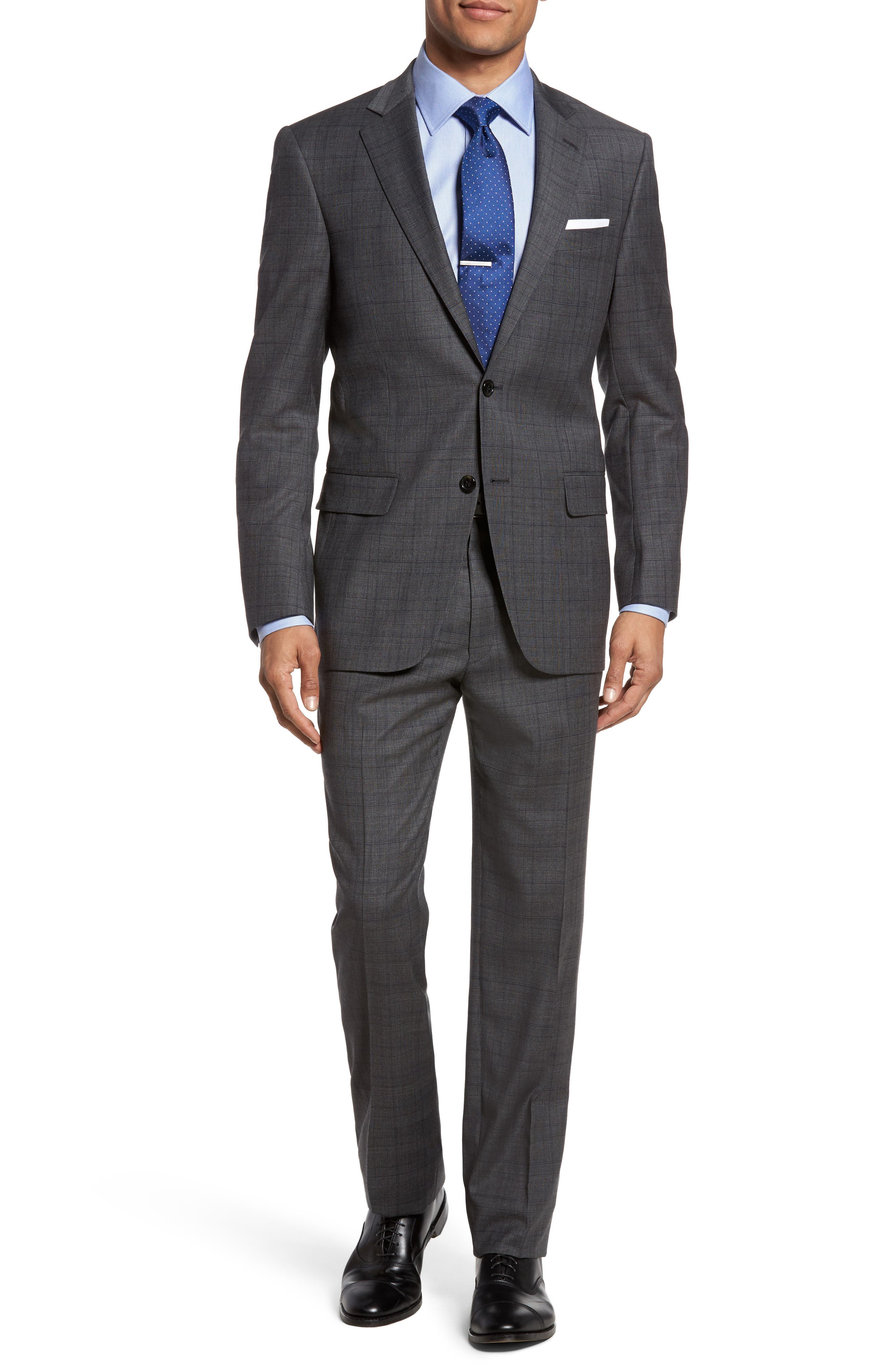 Hart Schaffner Marx New York Classic Fit Stretch Plaid Wool Suit