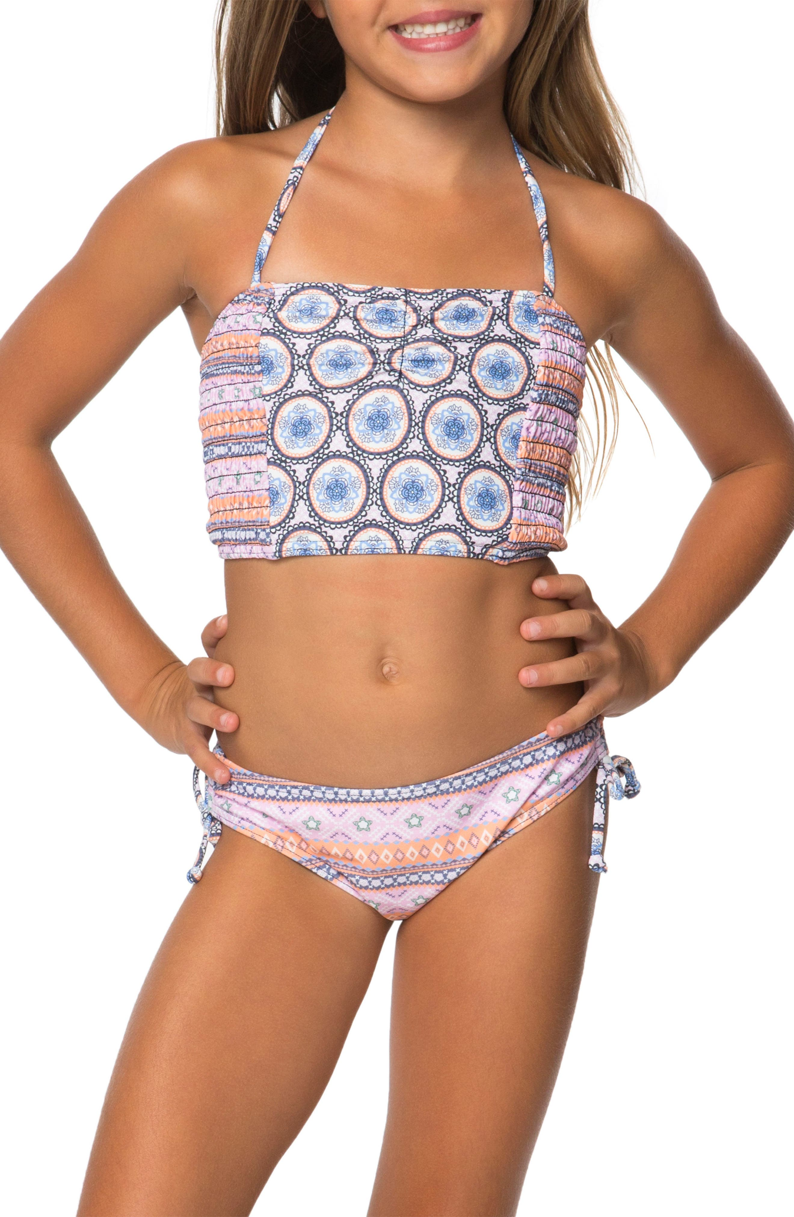 Alternate Image 1 Selected - O'Neill Evie Two-Piece Tankini Swimsuit (Toddler Girls)