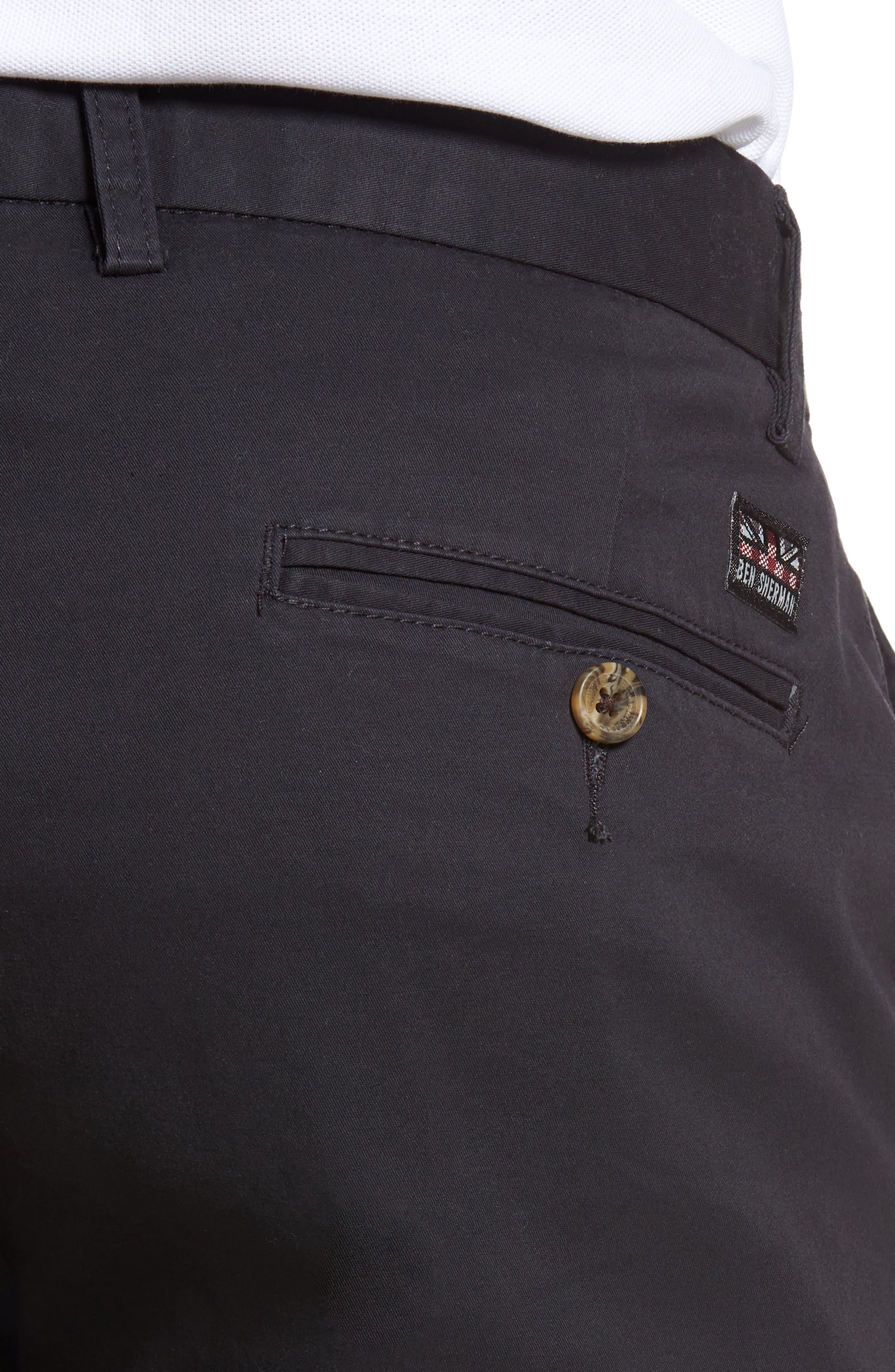 Slim Stretch Chino Shorts,                             Alternate thumbnail 4, color,                             Dark Navy
