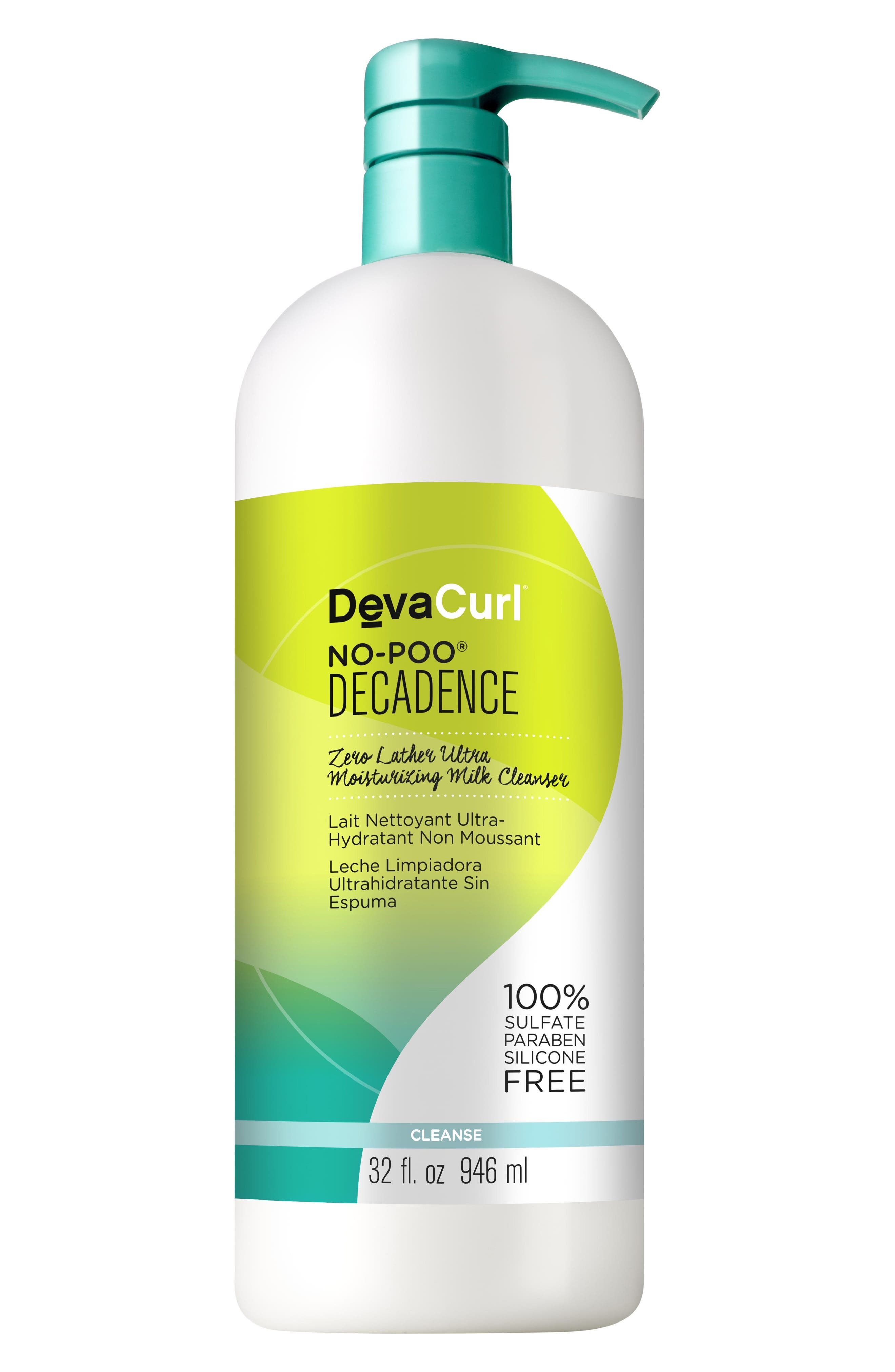 No-Poo<sup>®</sup> Decadence Zero Lather Ultra Moisturizing Milk Cleanser,                             Main thumbnail 1, color,                             No Color