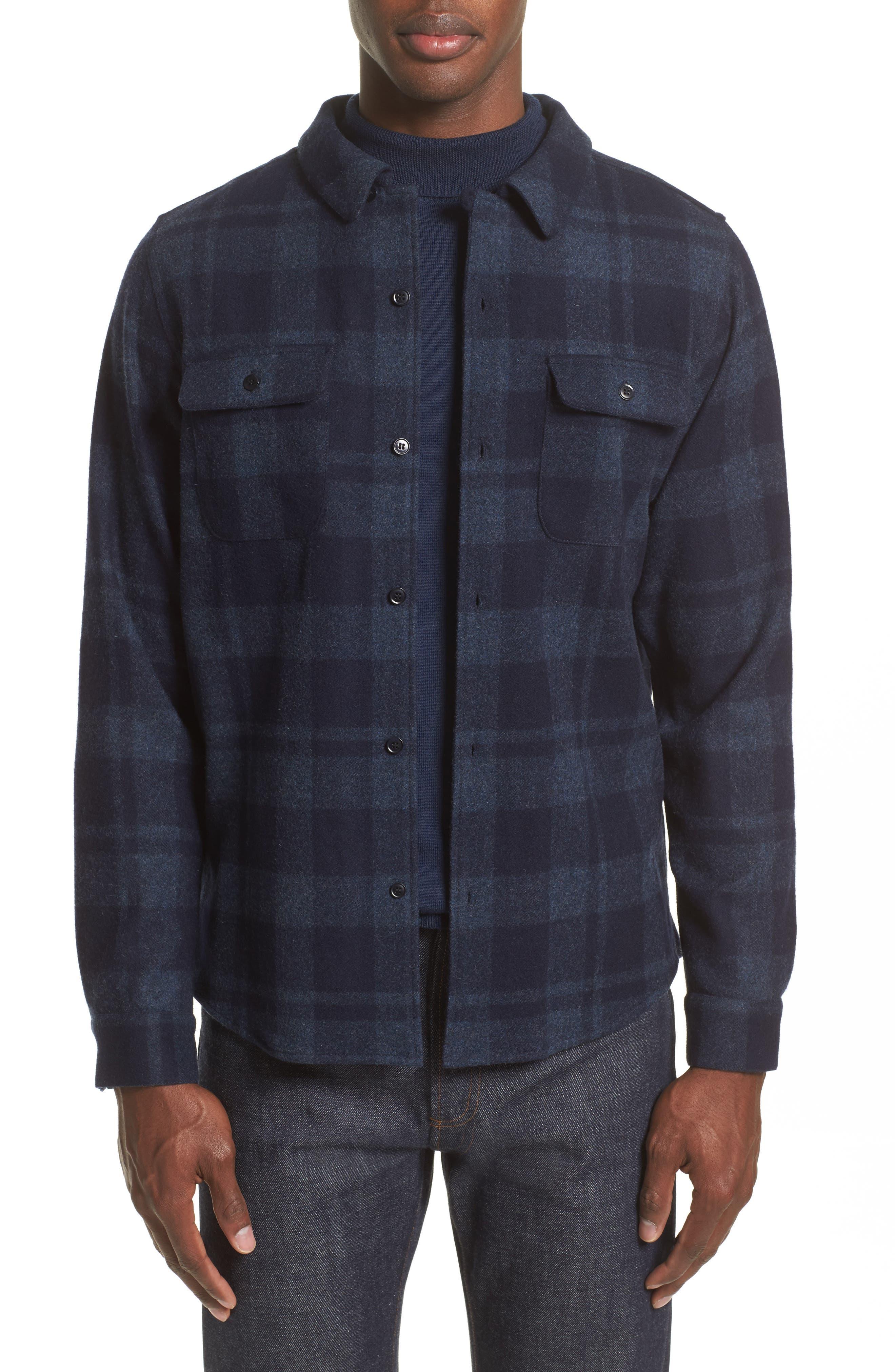 Main Image - A.P.C. Flannel Plaid Shirt