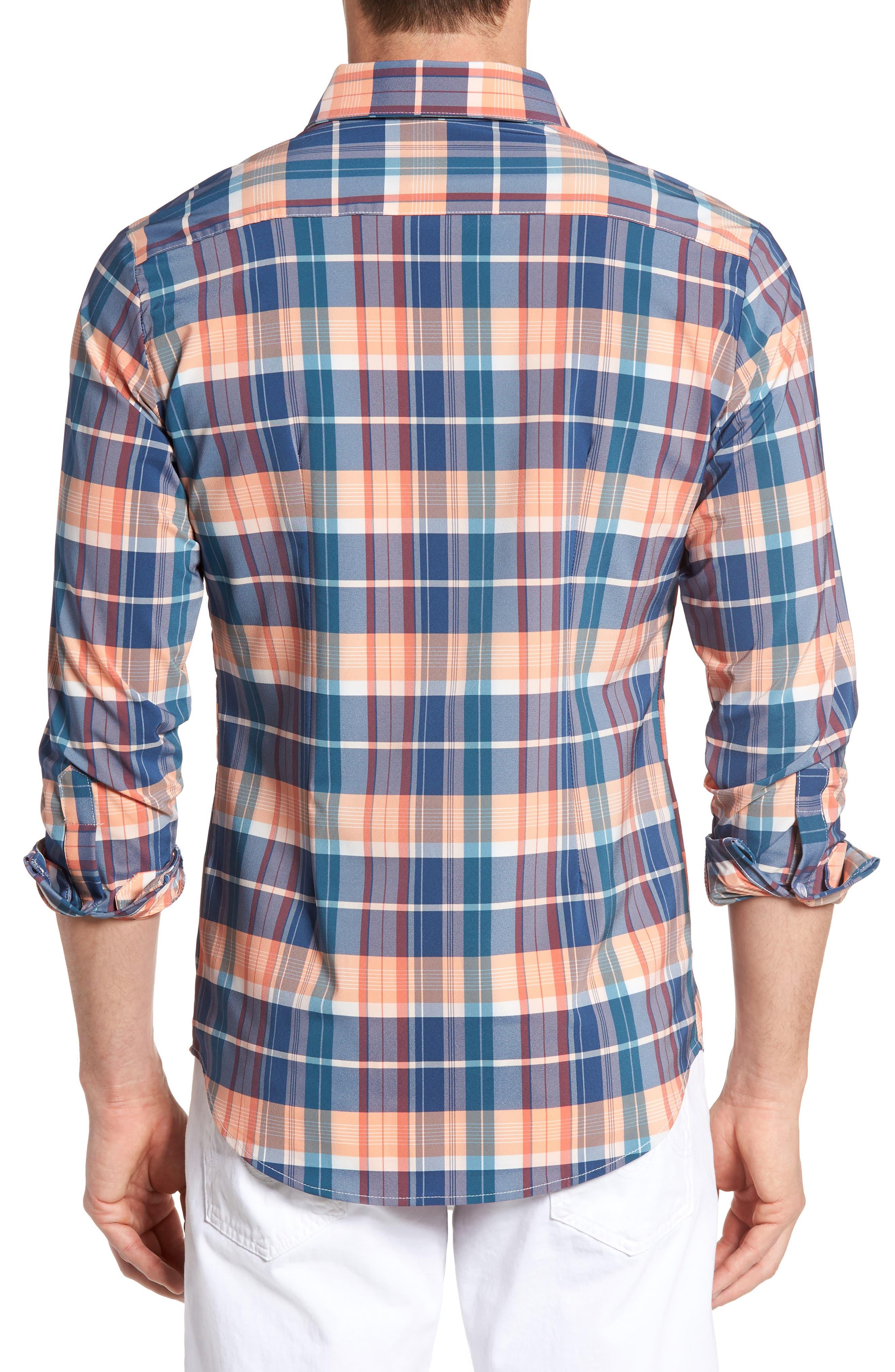 Alternate Image 2  - Mizzen+Main Potomac Madras Performance Sport Shirt (Regular & Tall)