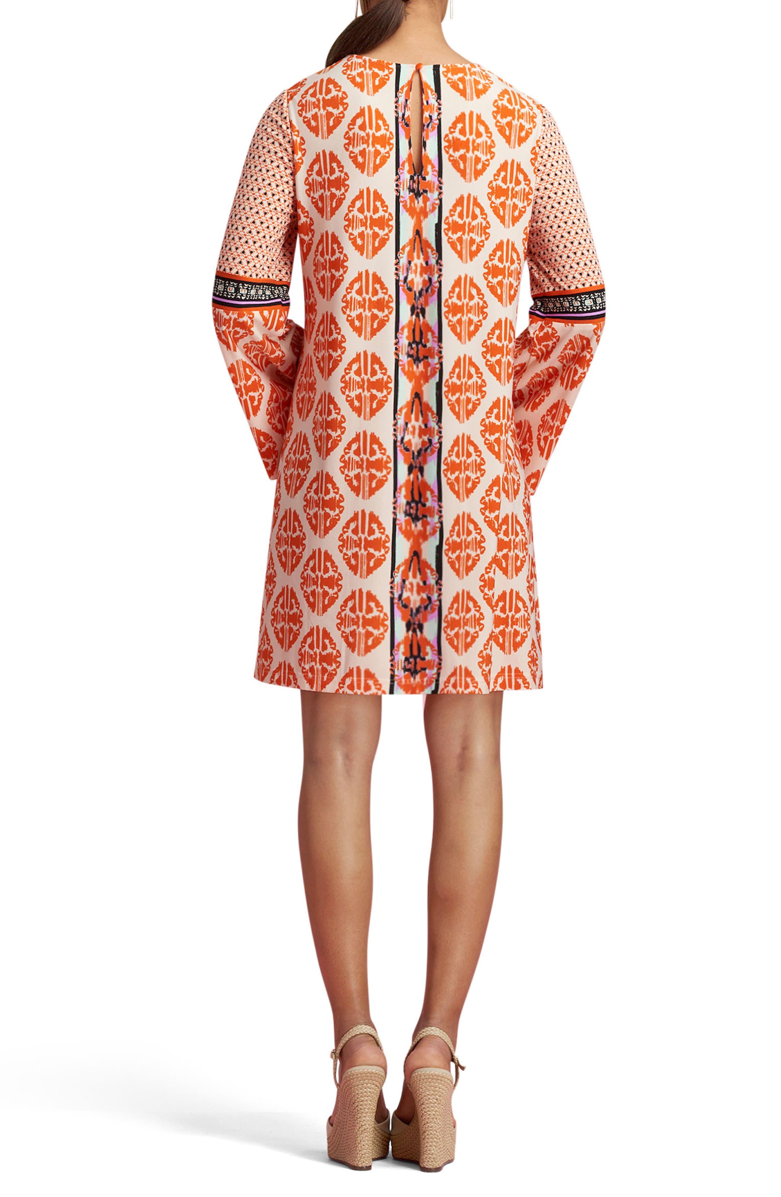Alternate Image 2  - ECI Print Bell Sleeve Dress