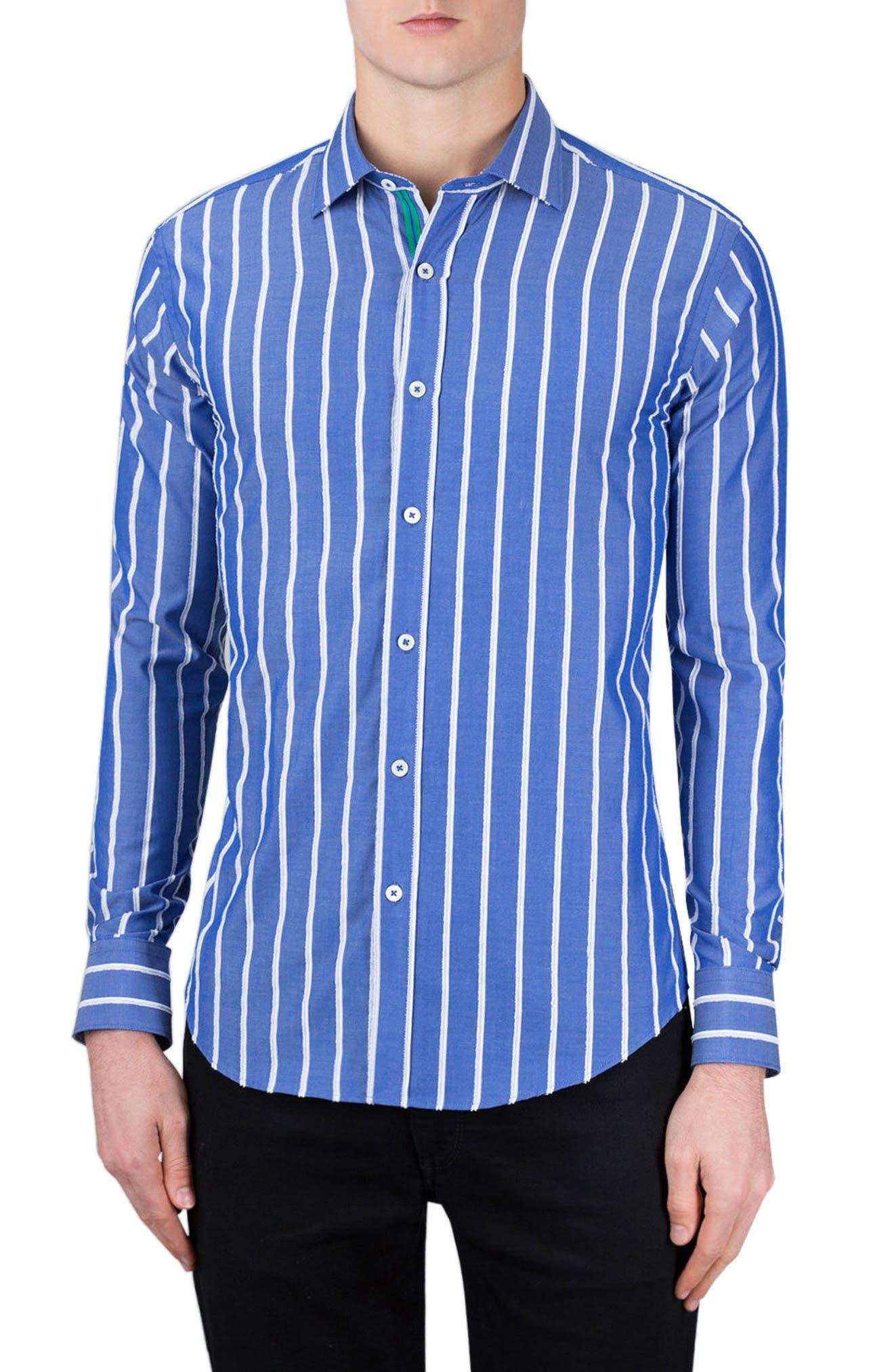 Main Image - Bugatchi Classic Fit Vertical Stripe Sport Shirt