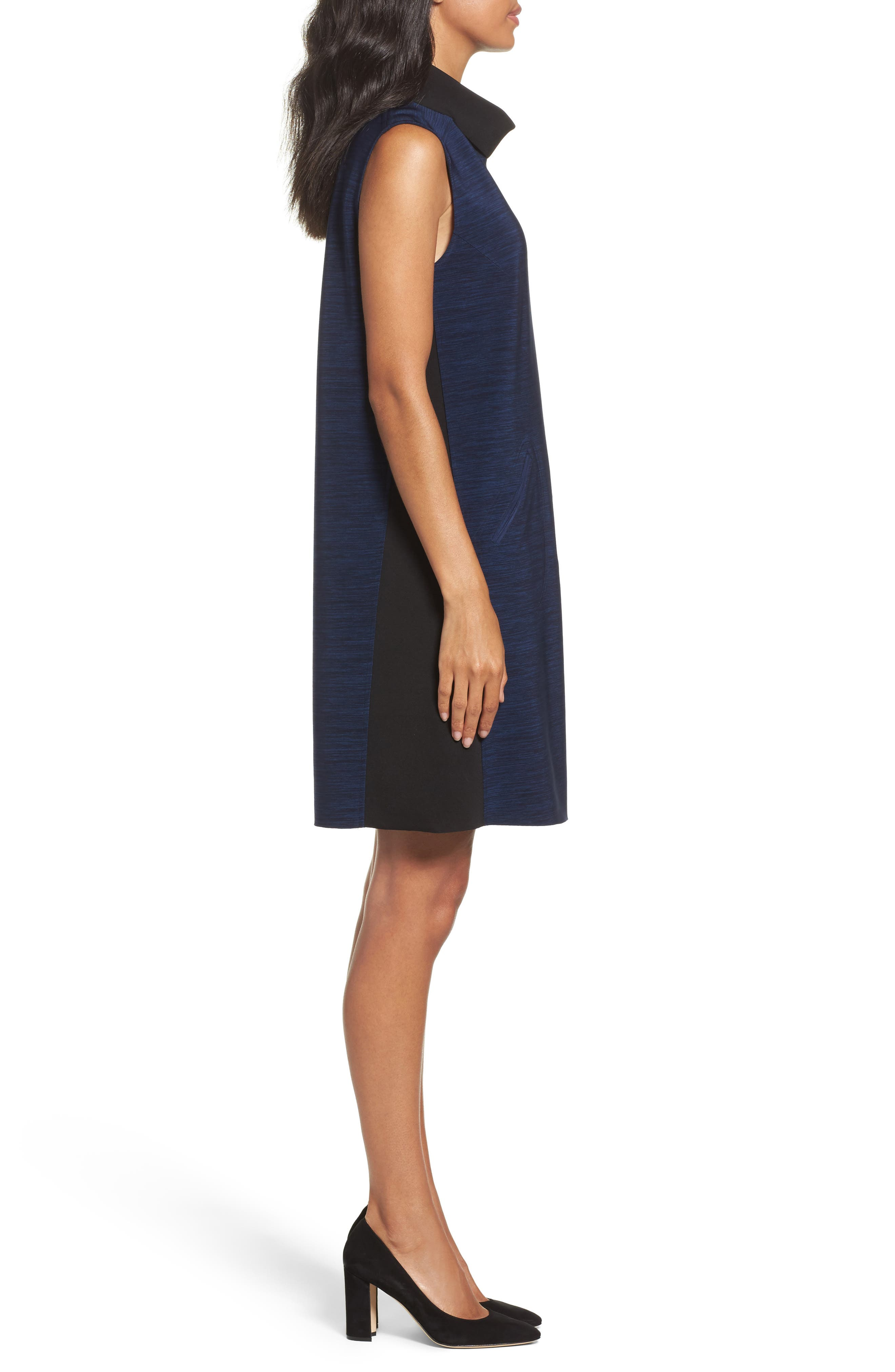 Alternate Image 3  - Tahari Turtleneck Shift Dress (Regular & Petite)