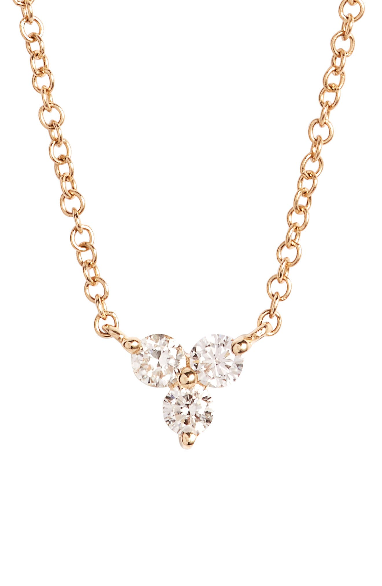 Alternate Image 1 Selected - EF COLLECTION Trio Diamond Pendant Necklace