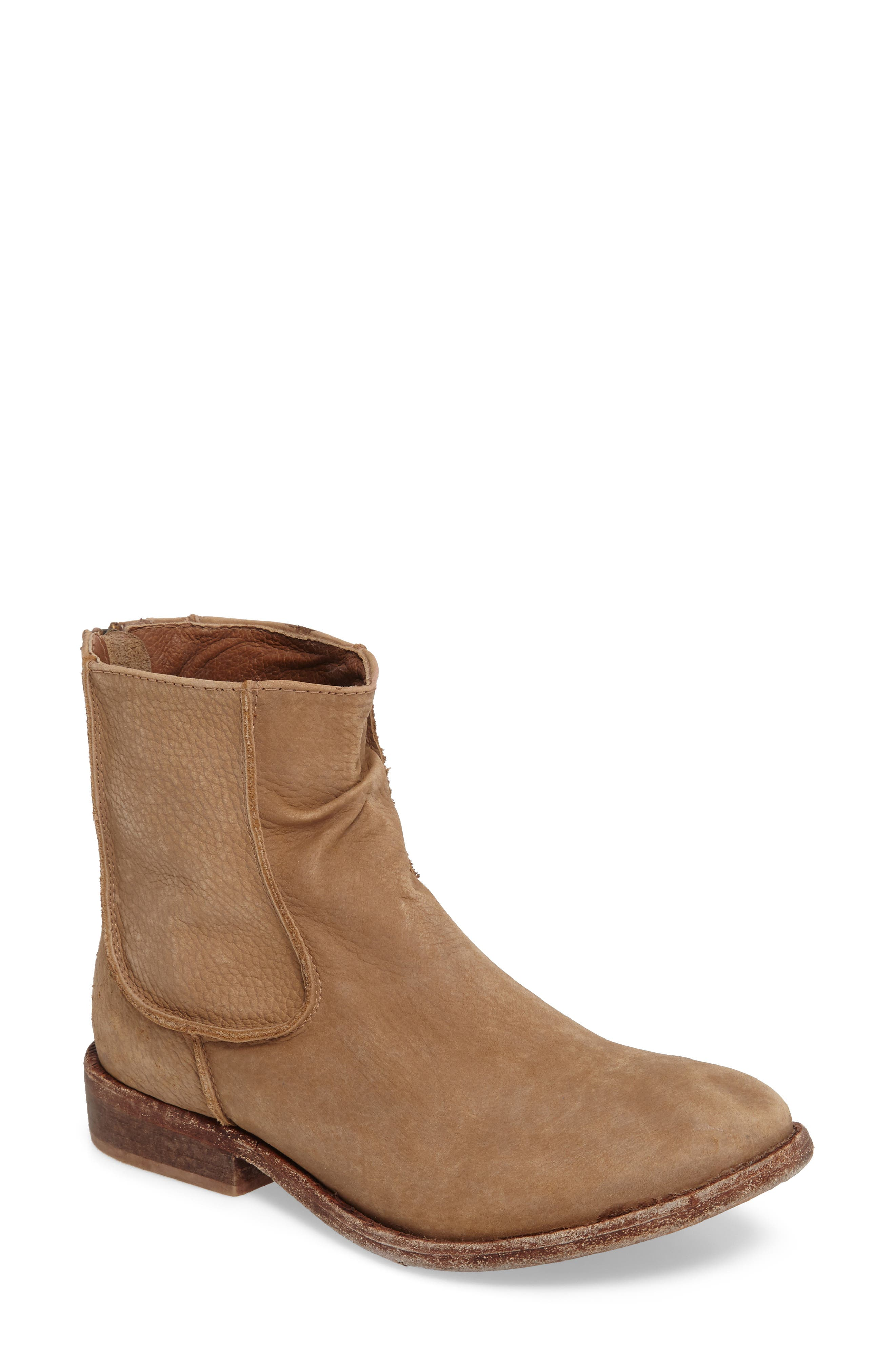 'Gerald' Distressed Bootie,                             Main thumbnail 1, color,                             Natural Leather