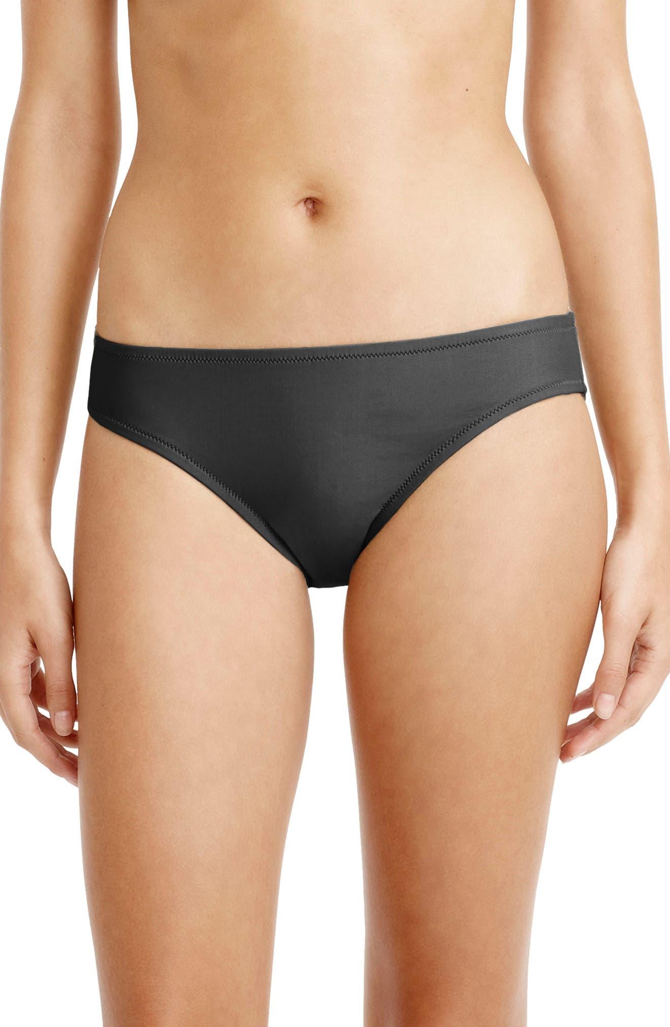 Bikini Bottoms,                         Main,                         color, Dark Charcoal