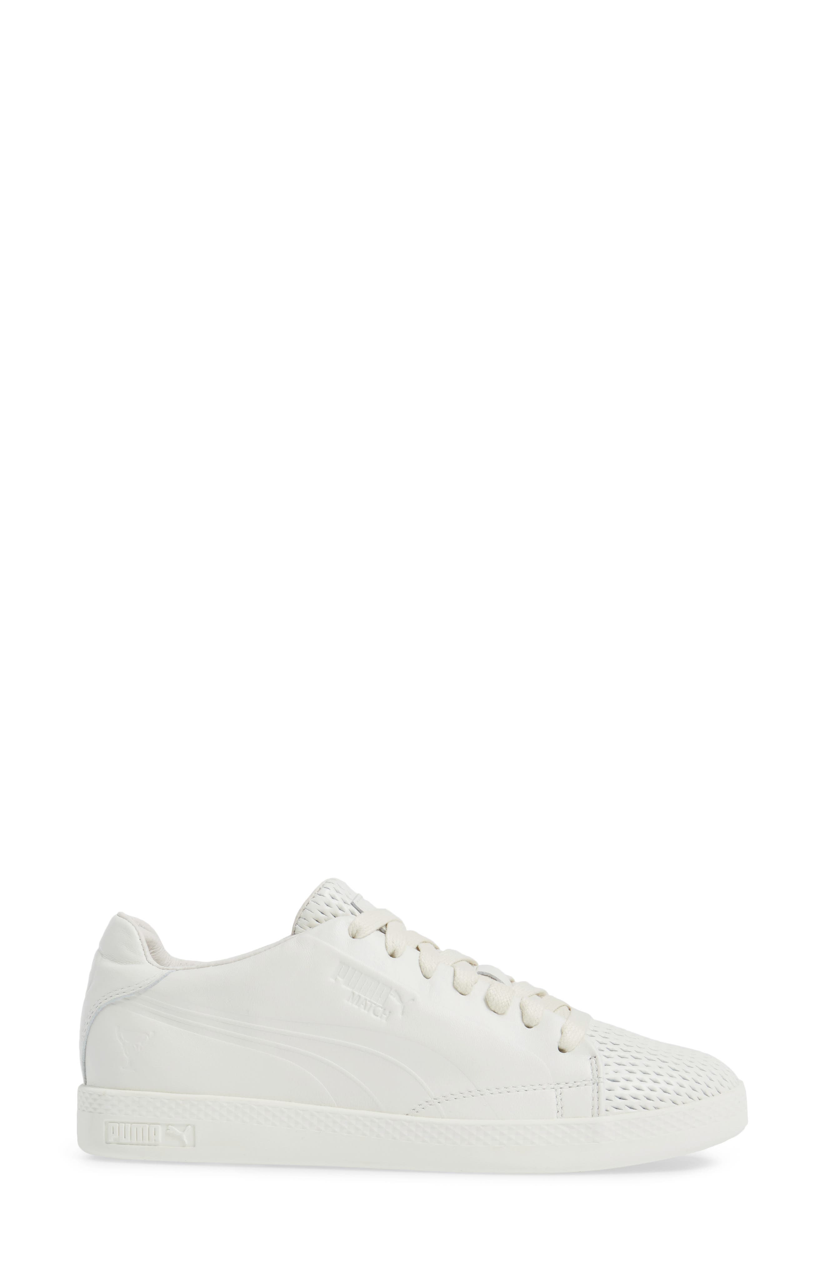Match Lo Open Sneaker,                             Alternate thumbnail 3, color,                             Whisper White/ Whisper White