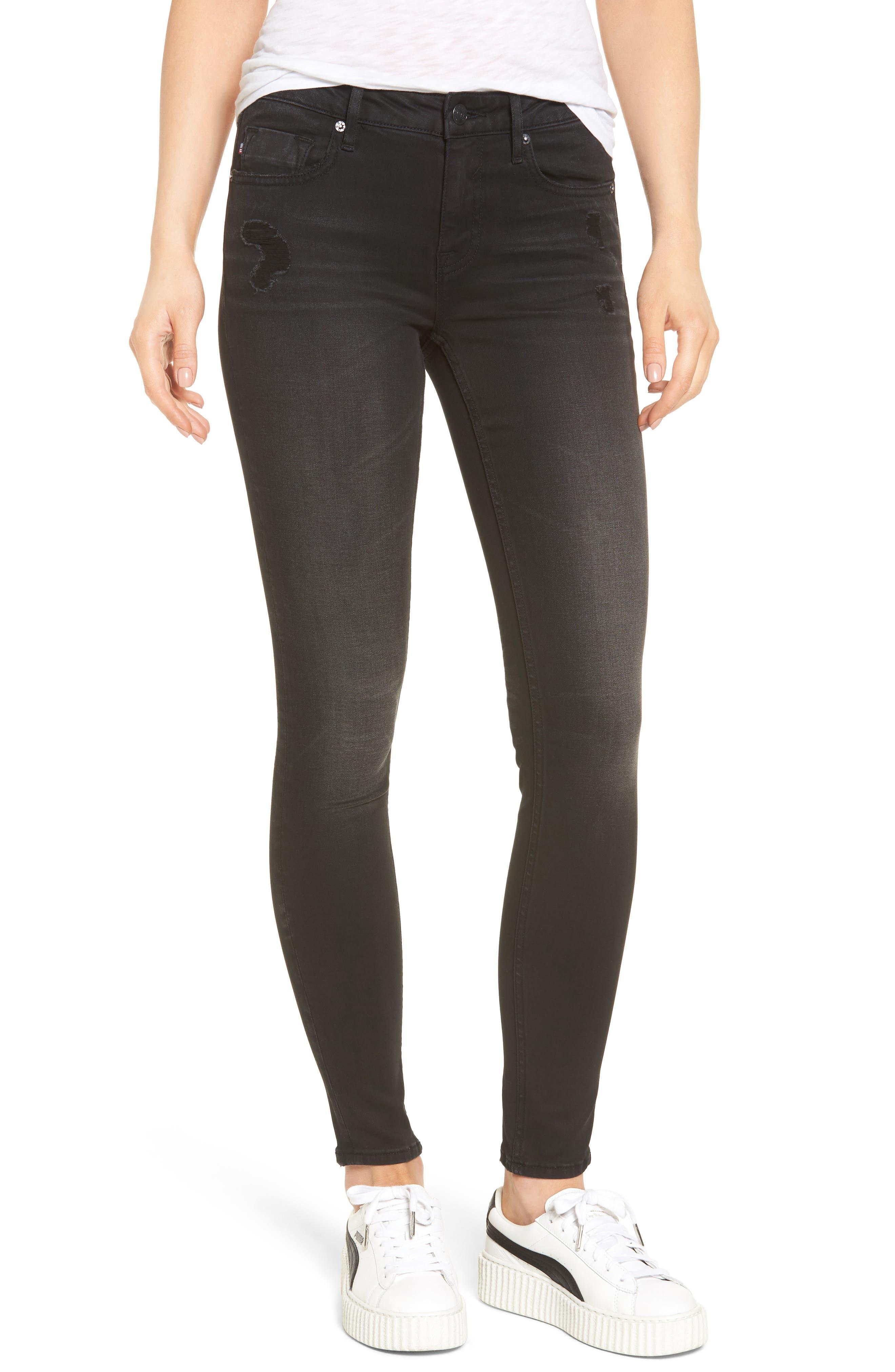 Vigoss Jagger Washed Skinny Jeans (Washed Black)