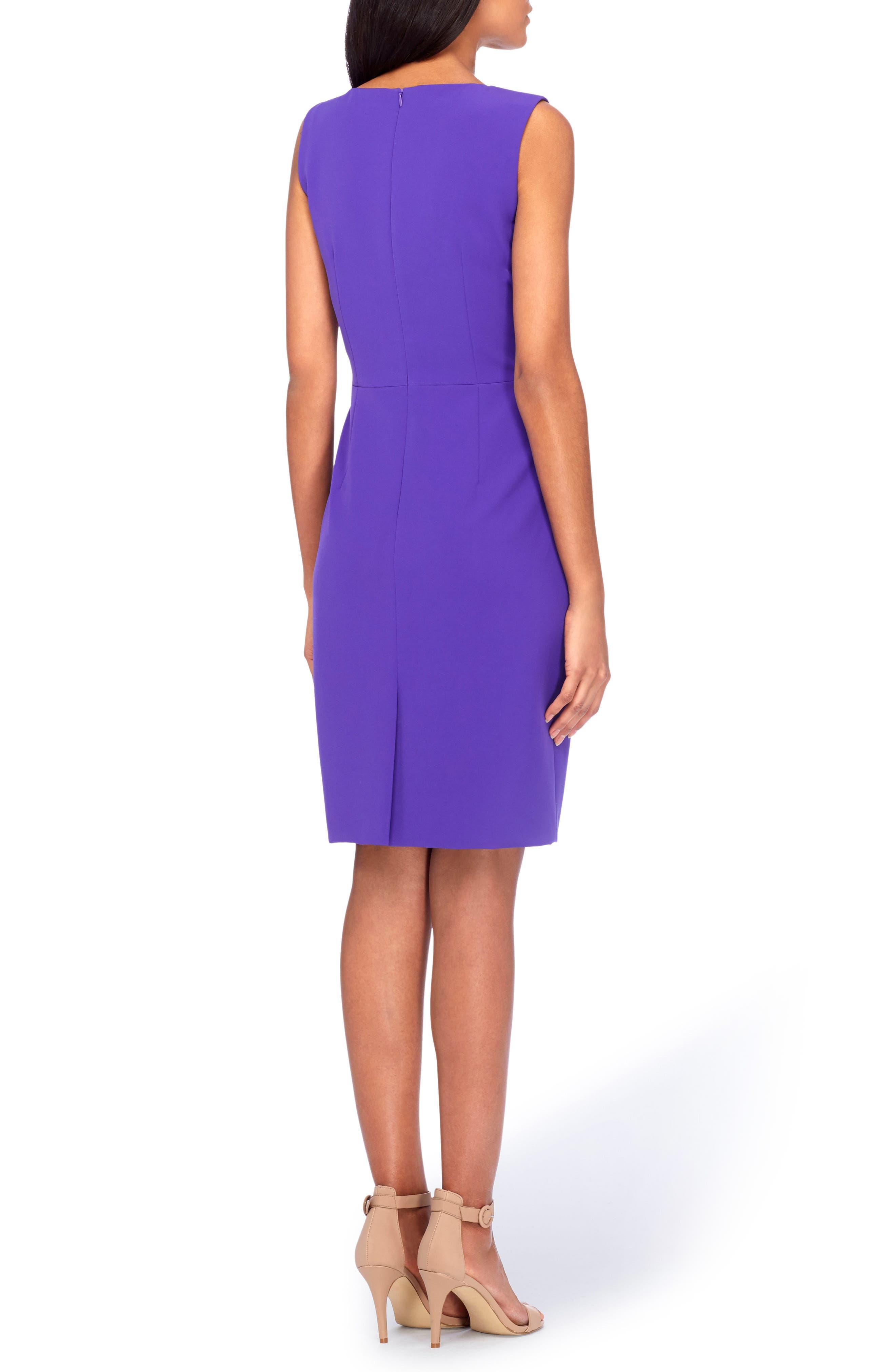Asymmetrical Sheath Dress,                             Alternate thumbnail 2, color,                             Violet