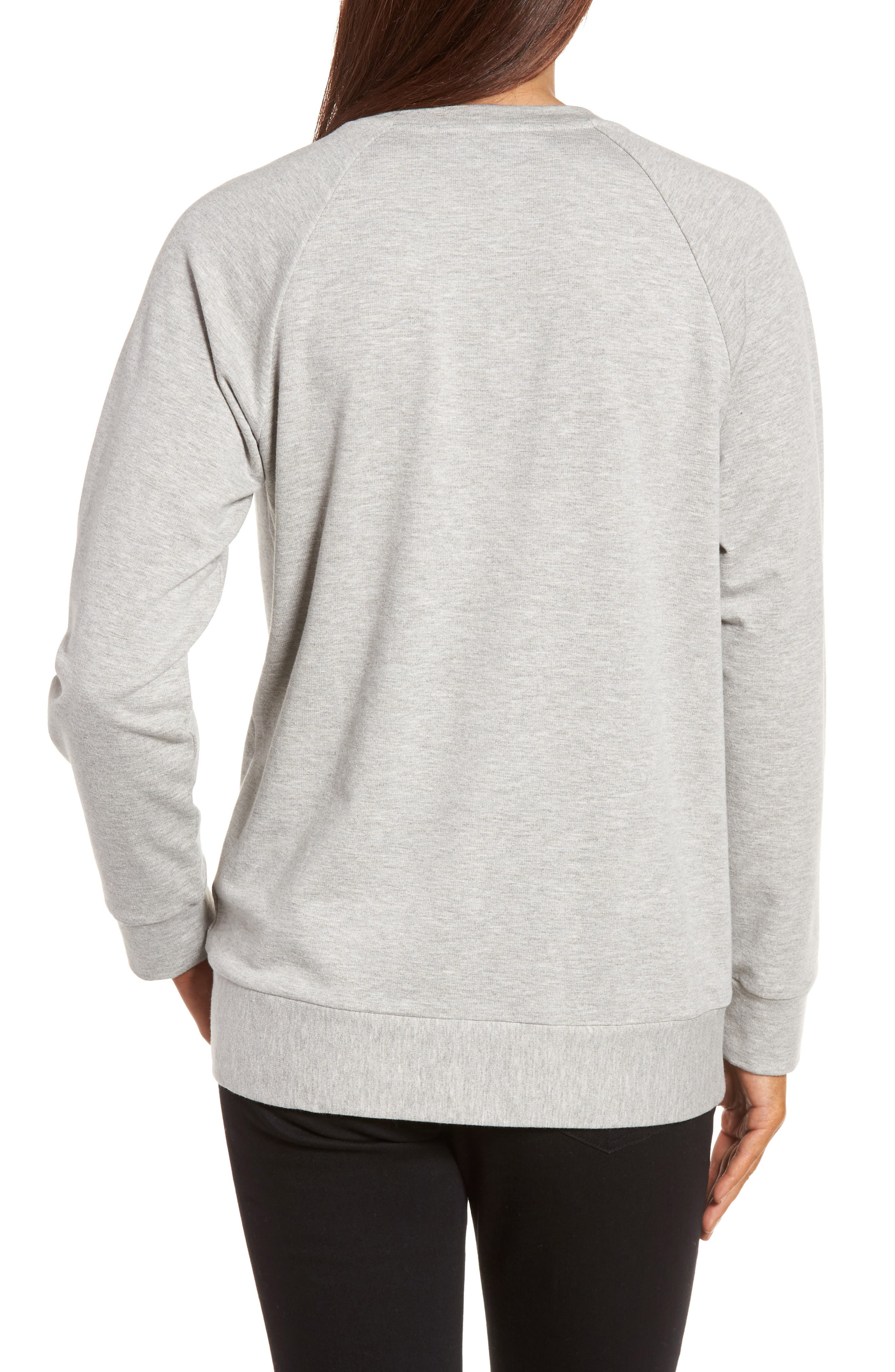 Alternate Image 2  - Caslon® Tie Knot Sweatshirt (Regular & Petite)