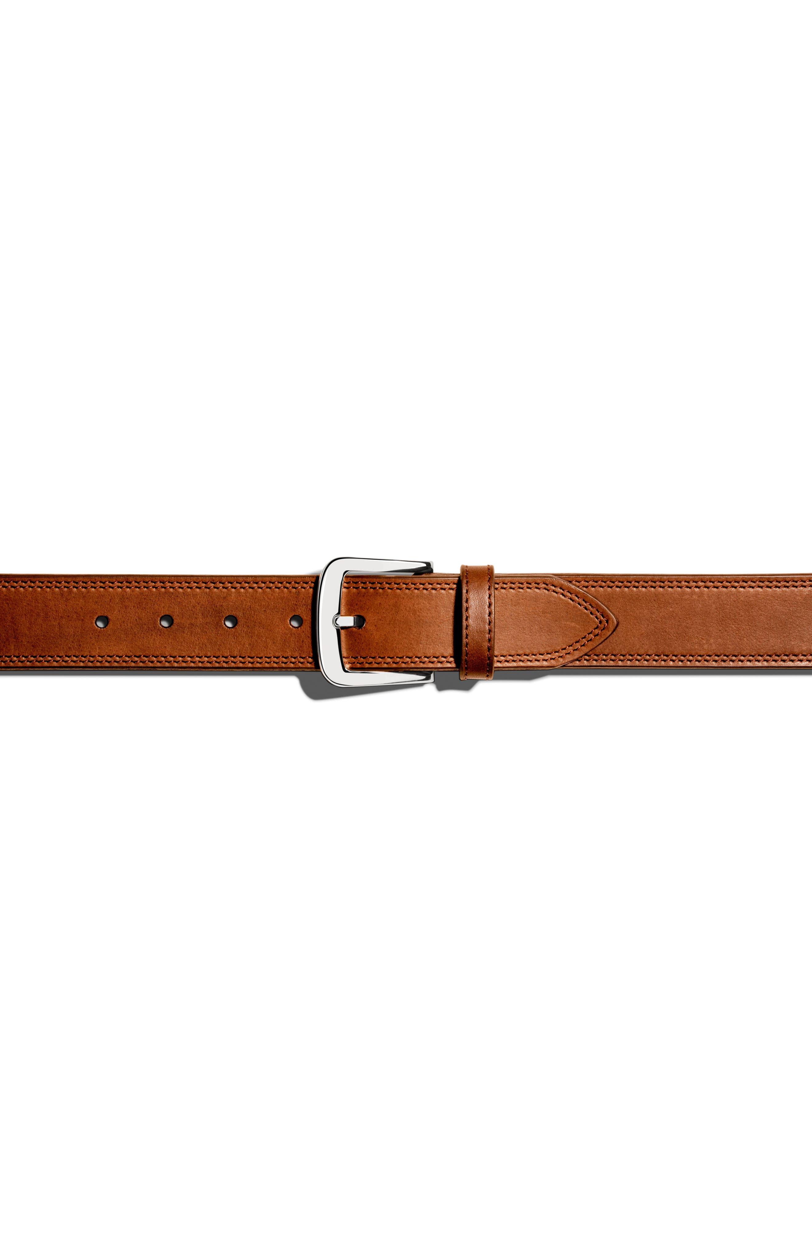 Alternate Image 4  - Shinola Double Stitch Leather Belt