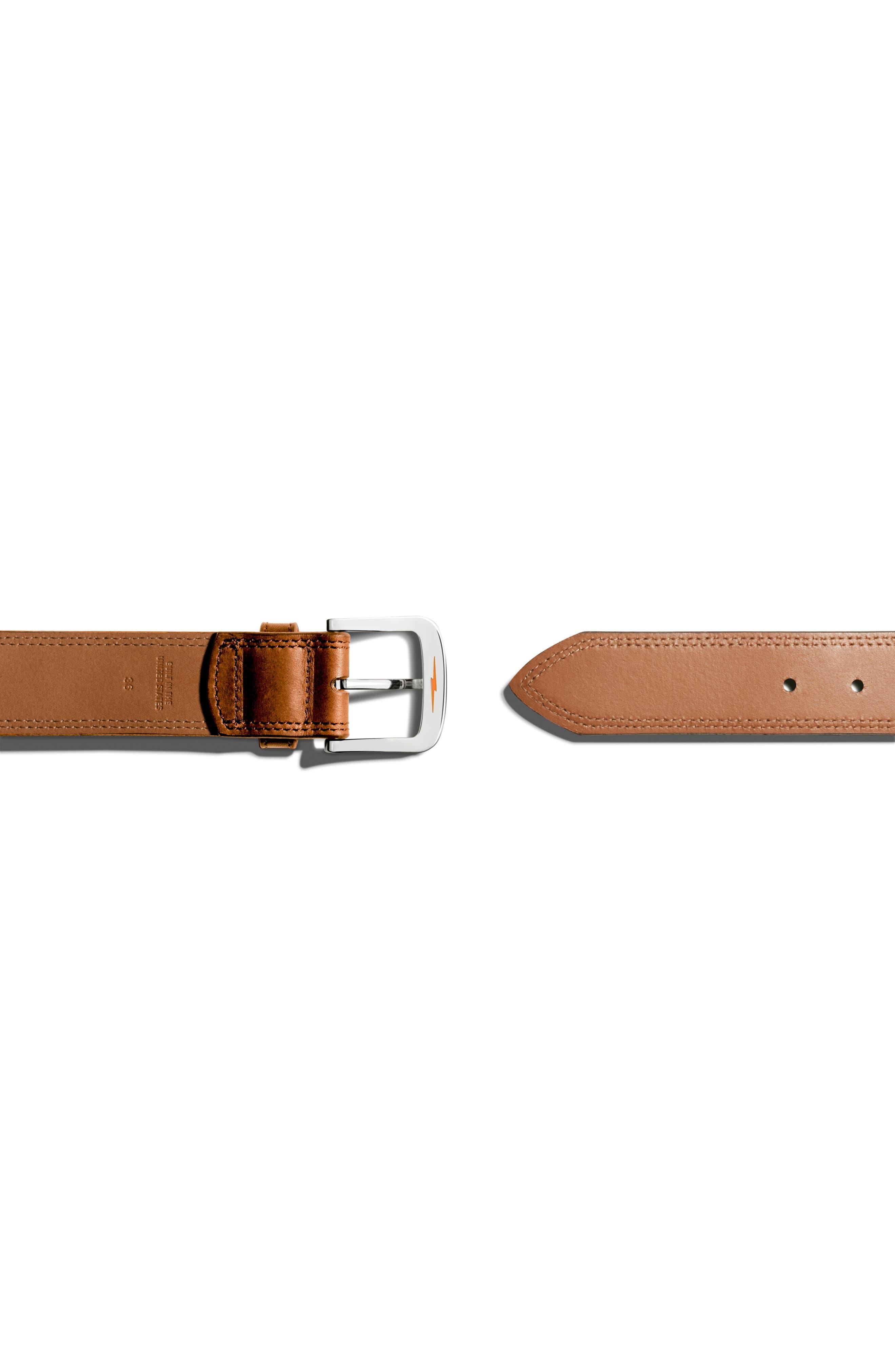 Alternate Image 3  - Shinola Double Stitch Leather Belt