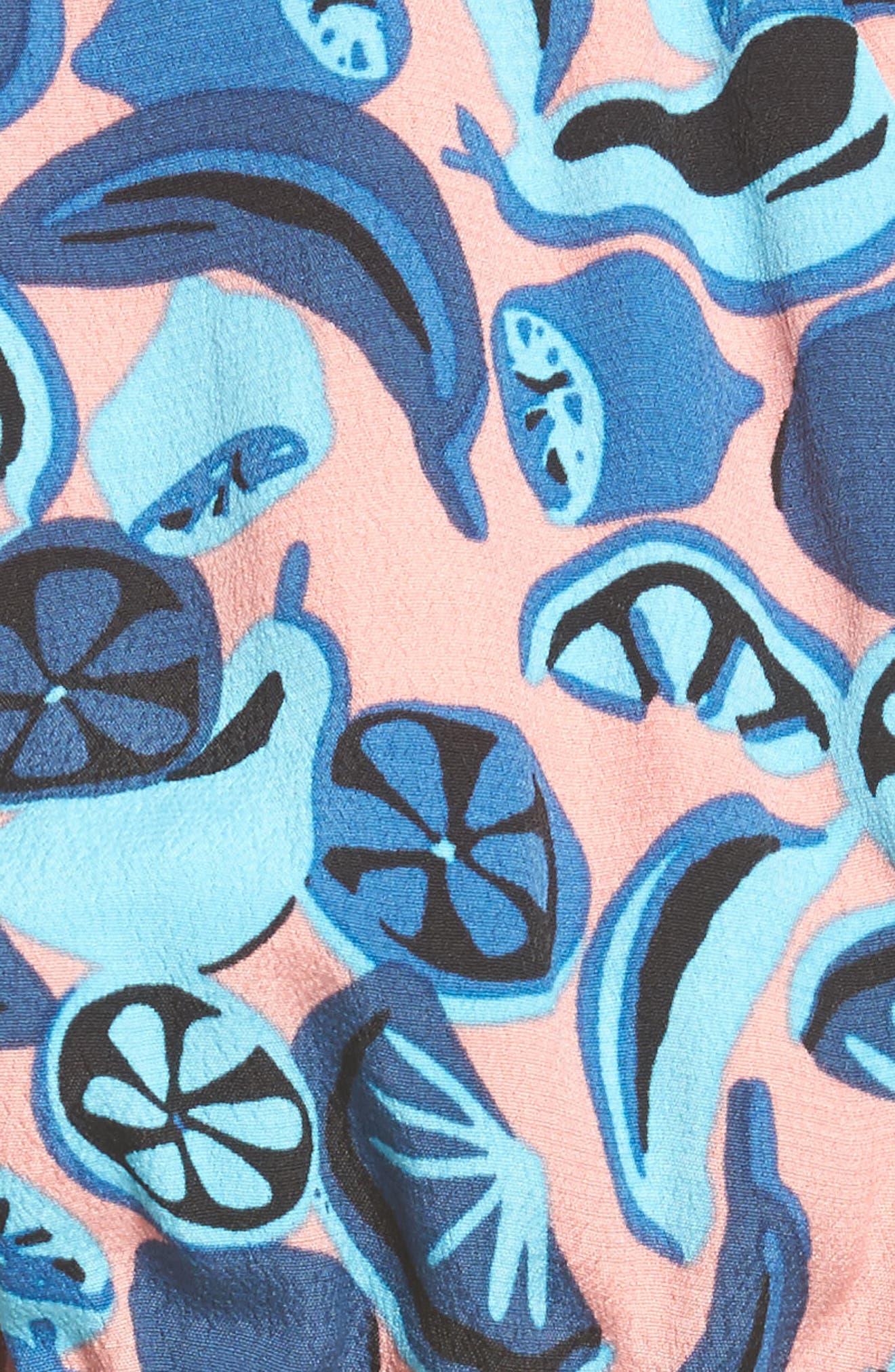 Sophie Romper,                             Alternate thumbnail 5, color,                             Multi Fruit Print