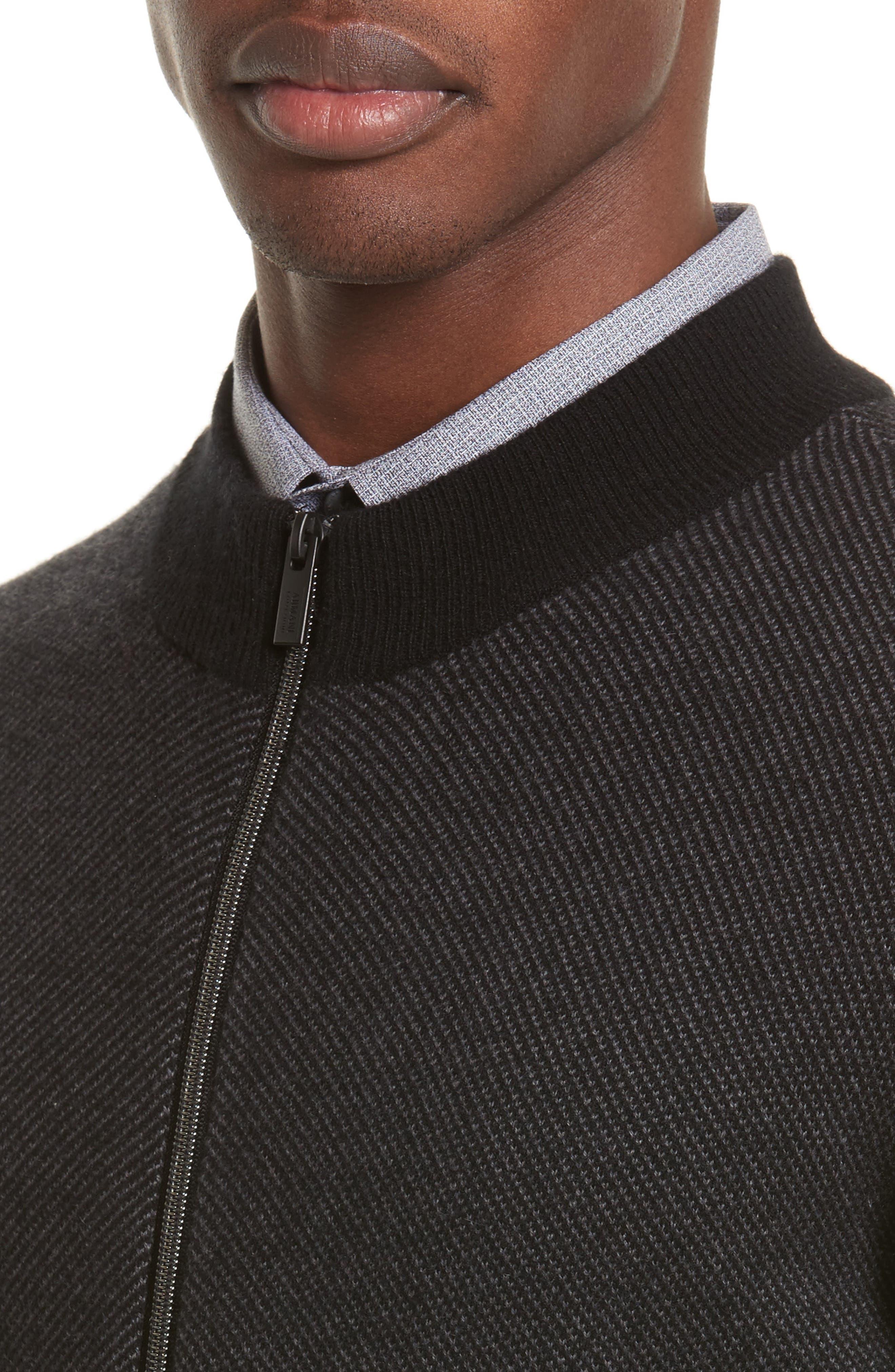 Alternate Image 4  - Armani Collezioni Cashmere Zip Cardigan