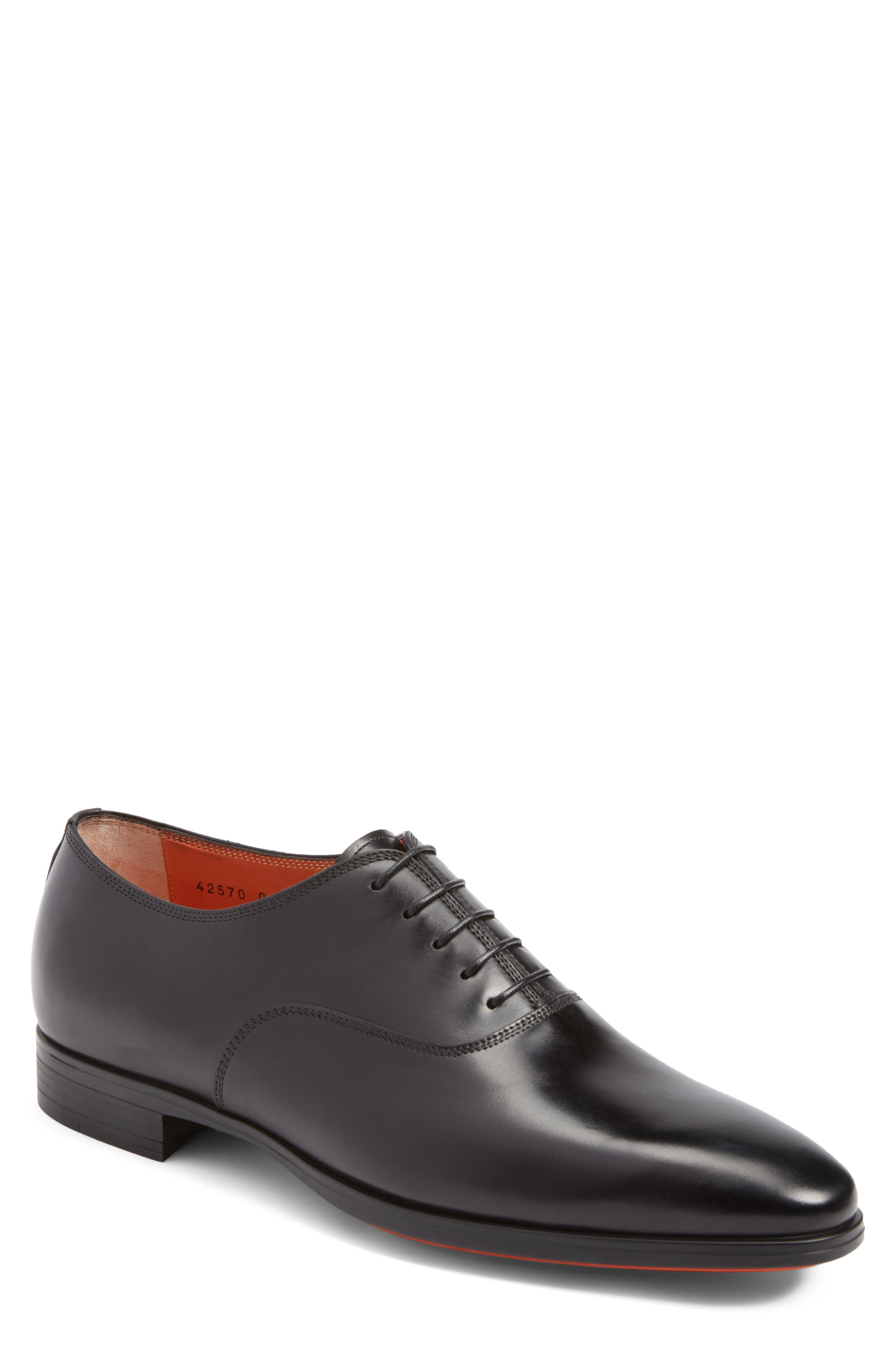 Santoni Fenwick Plain Toe Oxford (Men)