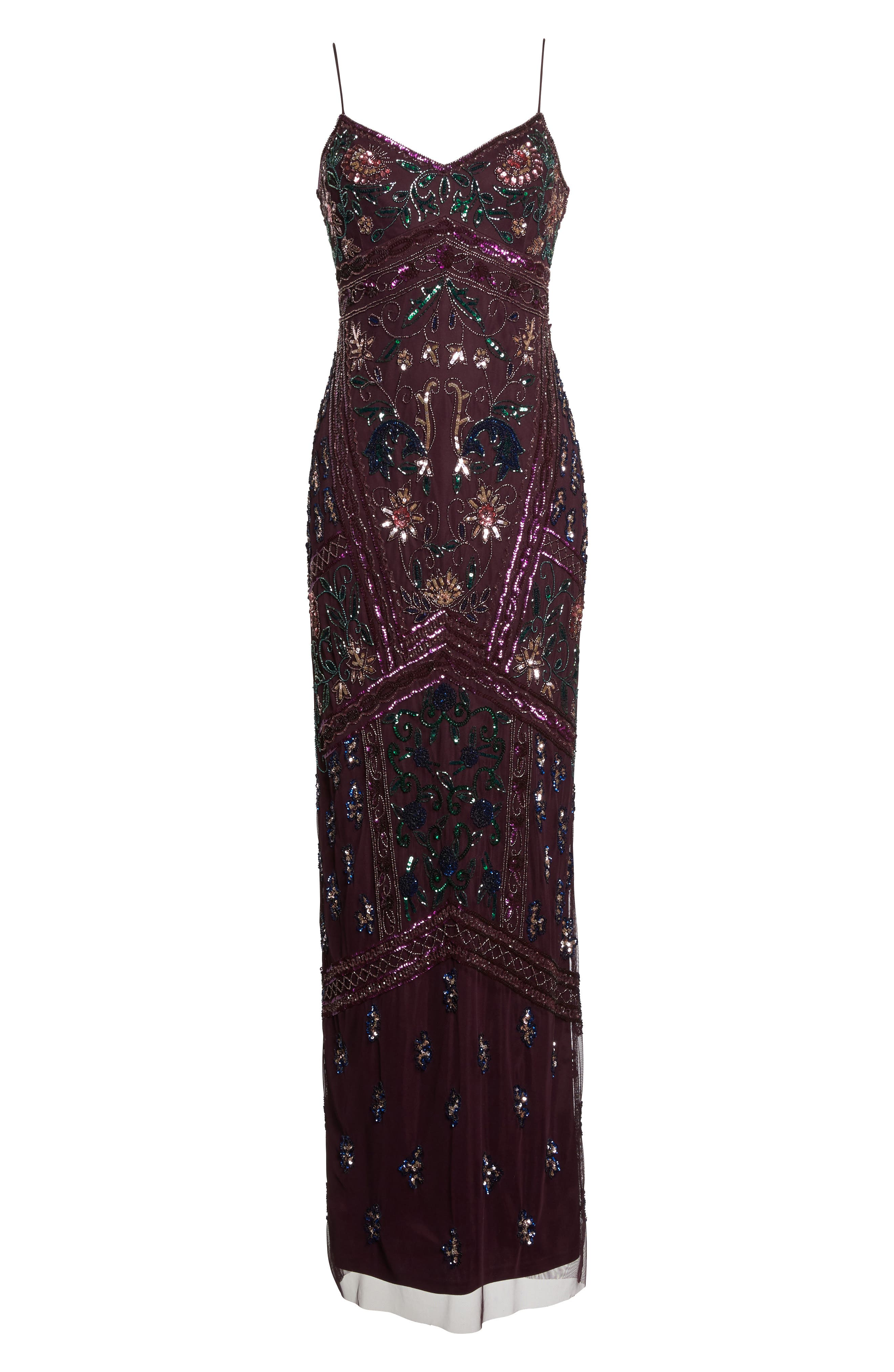 Alternate Image 6  - Adrianna Papell Floral Beaded Column Gown