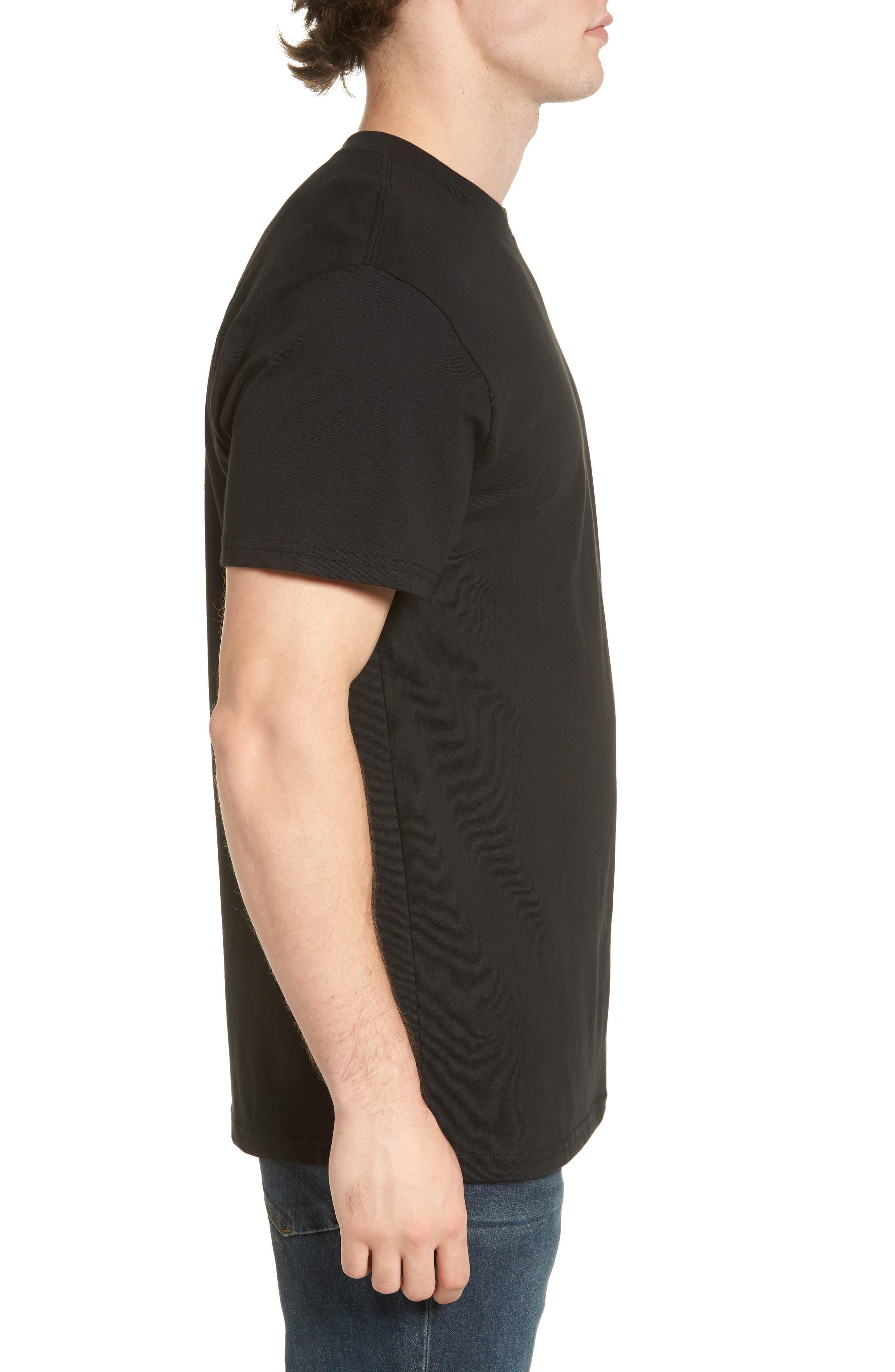 Fill Die Cut T-Shirt,                             Alternate thumbnail 3, color,                             Black