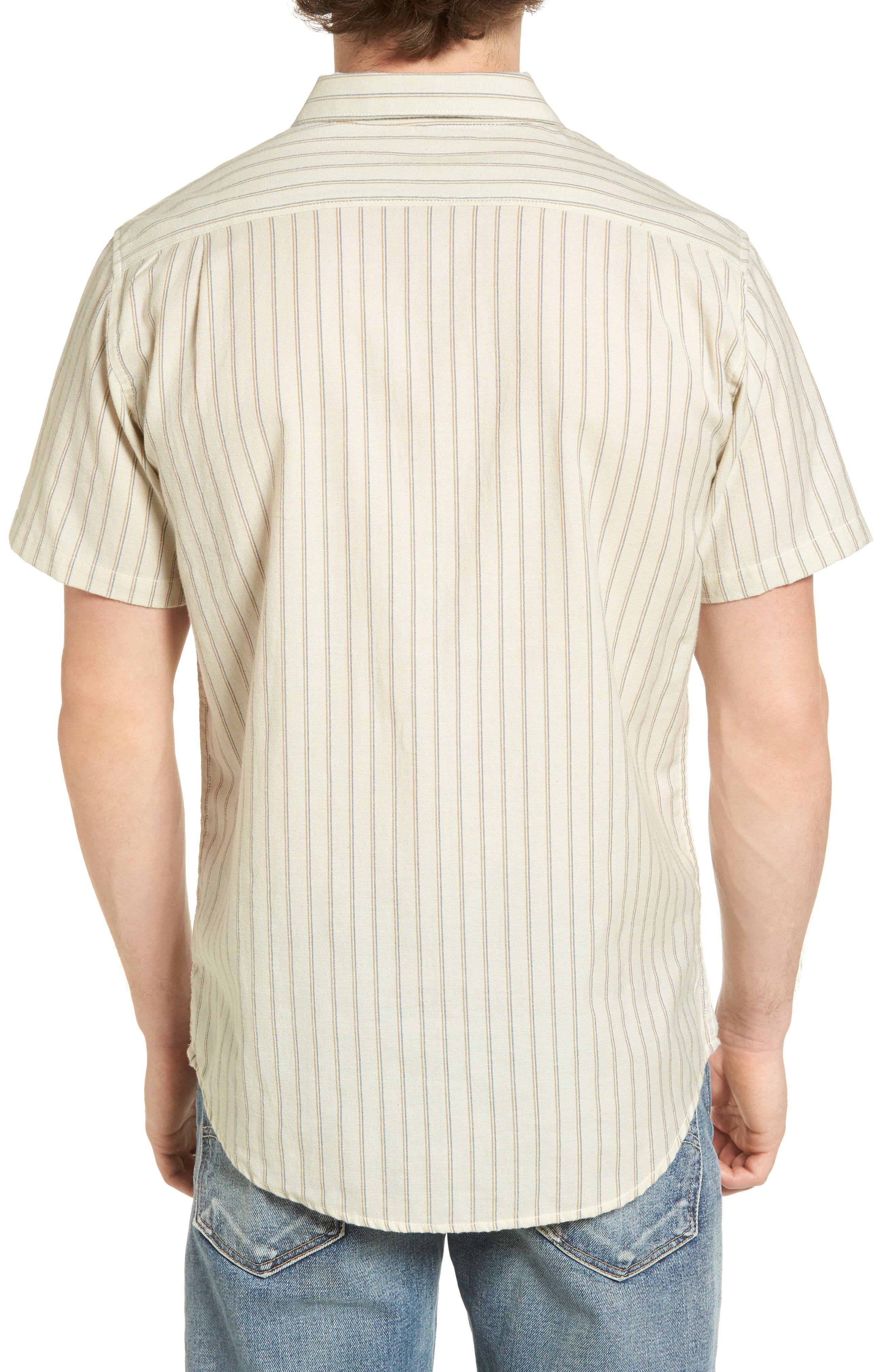 Kelso Tailored Fit Stripe Shirt,                             Alternate thumbnail 2, color,                             Stone